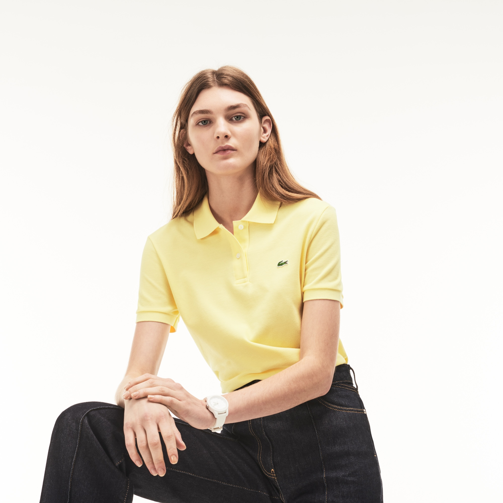 Women's Lacoste Classic Fit Soft Cotton Petit Piqué Polo Shirt