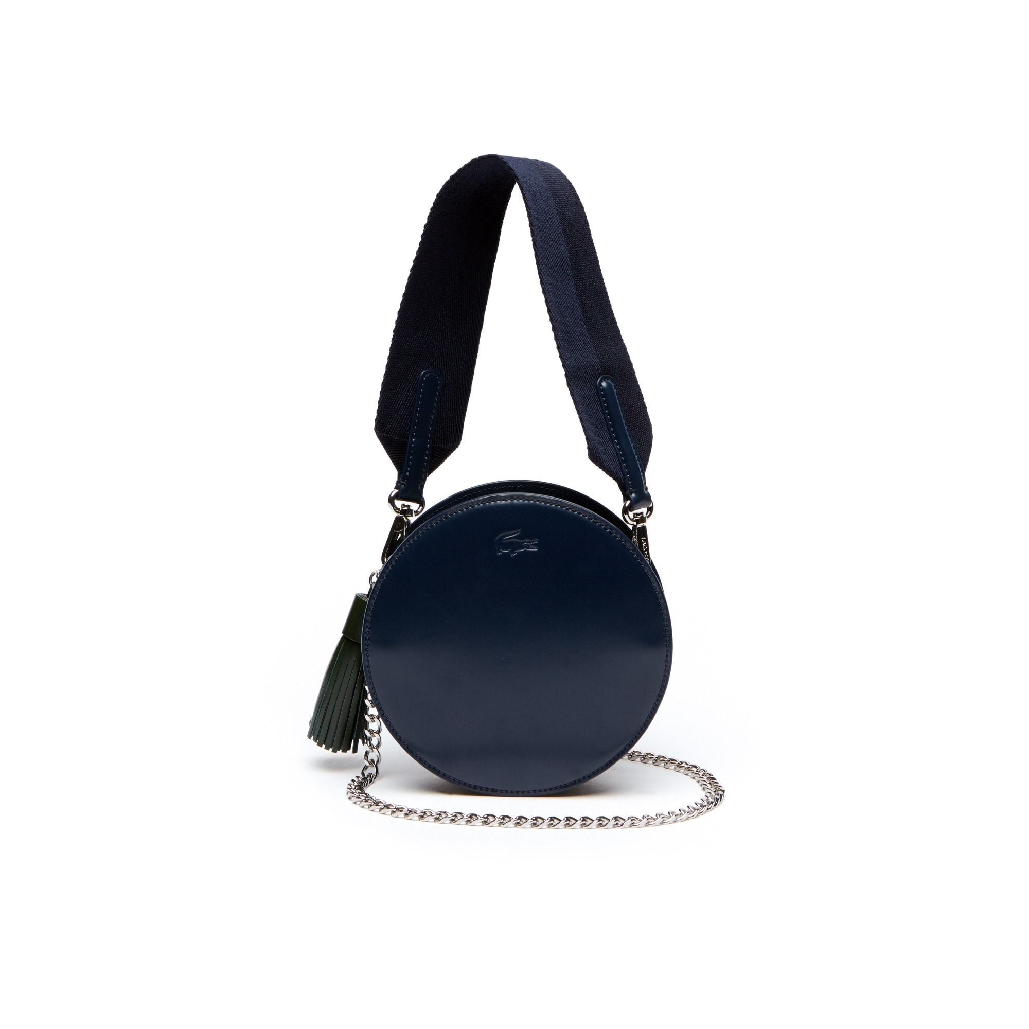 Women's Live Mate Coated Leather Round Crossover Bag