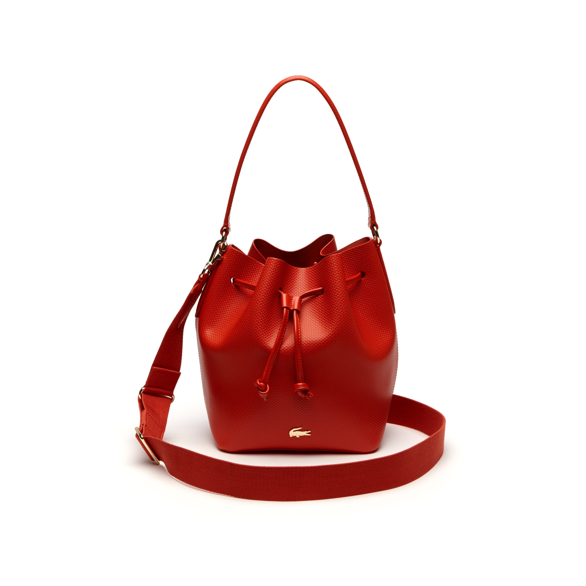 Women's Chantaco Dual Carry Piqué Leather Bucket Bag