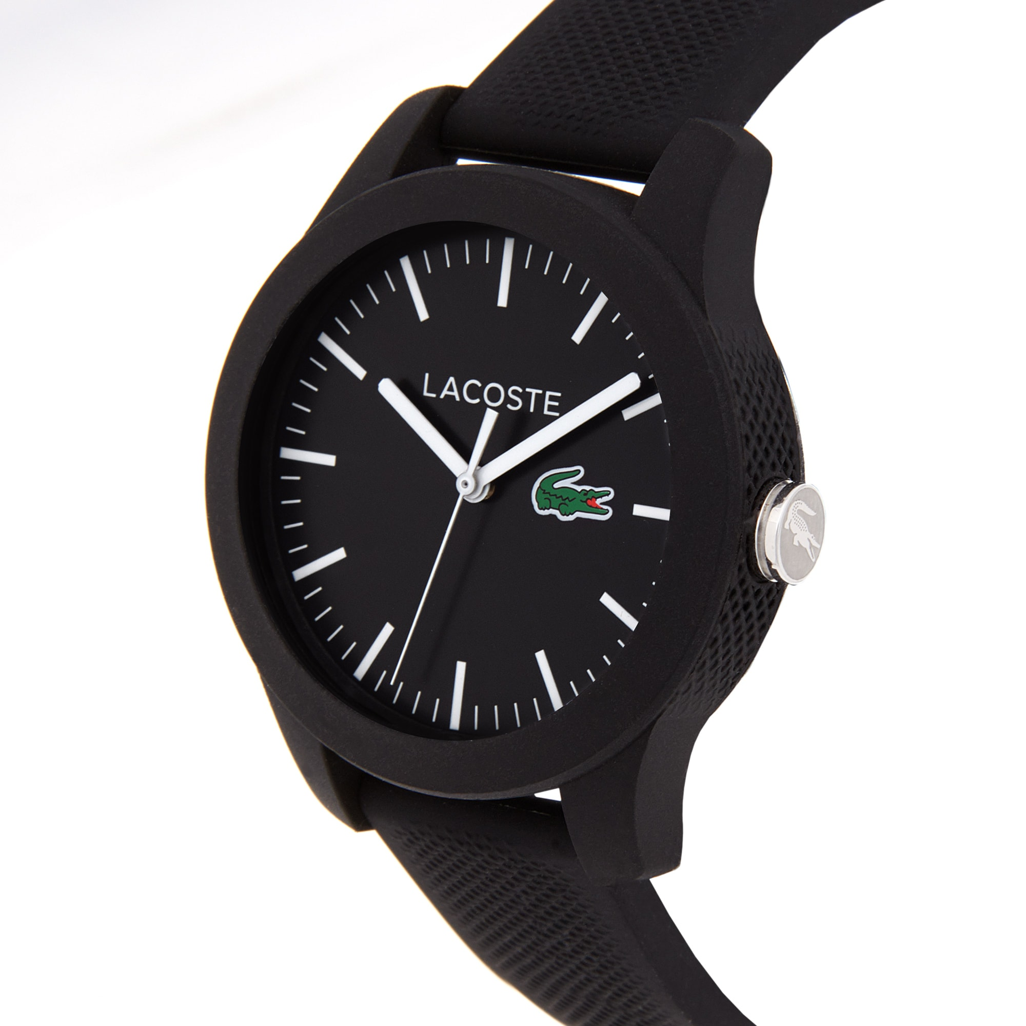 Women's Lacoste 12.12 Watch with Black Silicone Strap