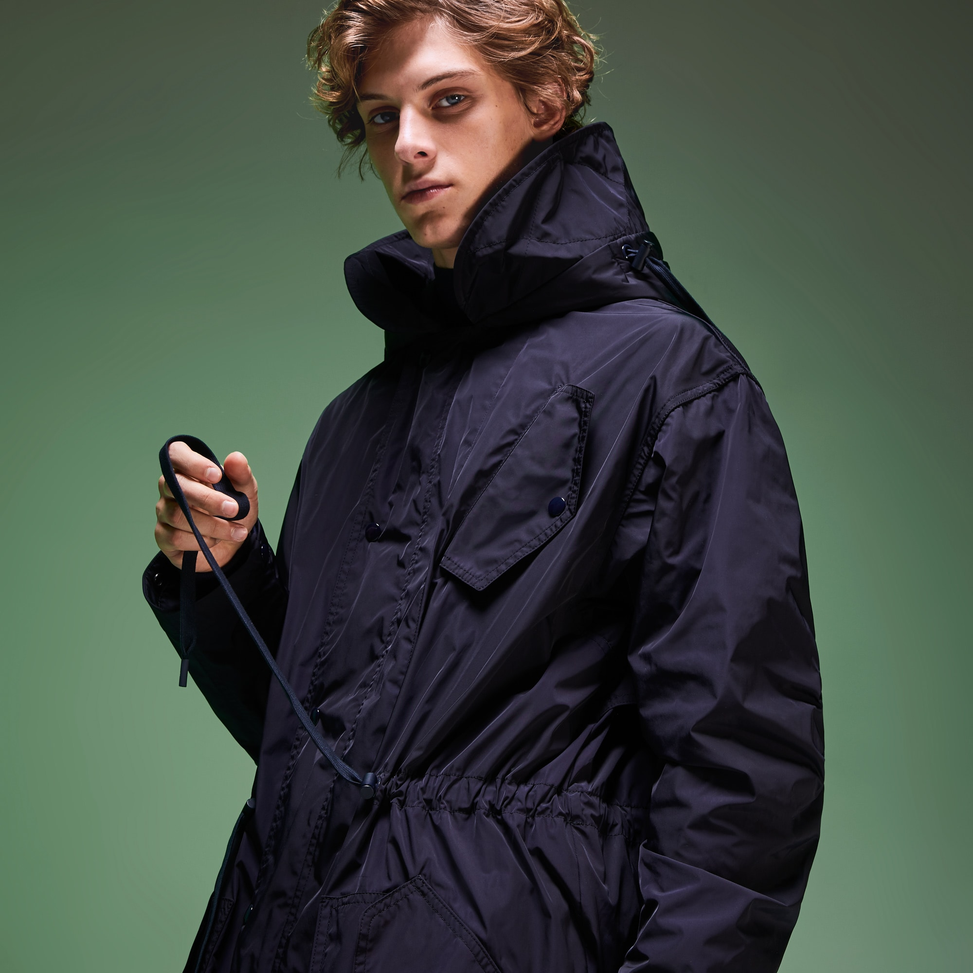 Unisex Fashion Show Solid Technical Coat