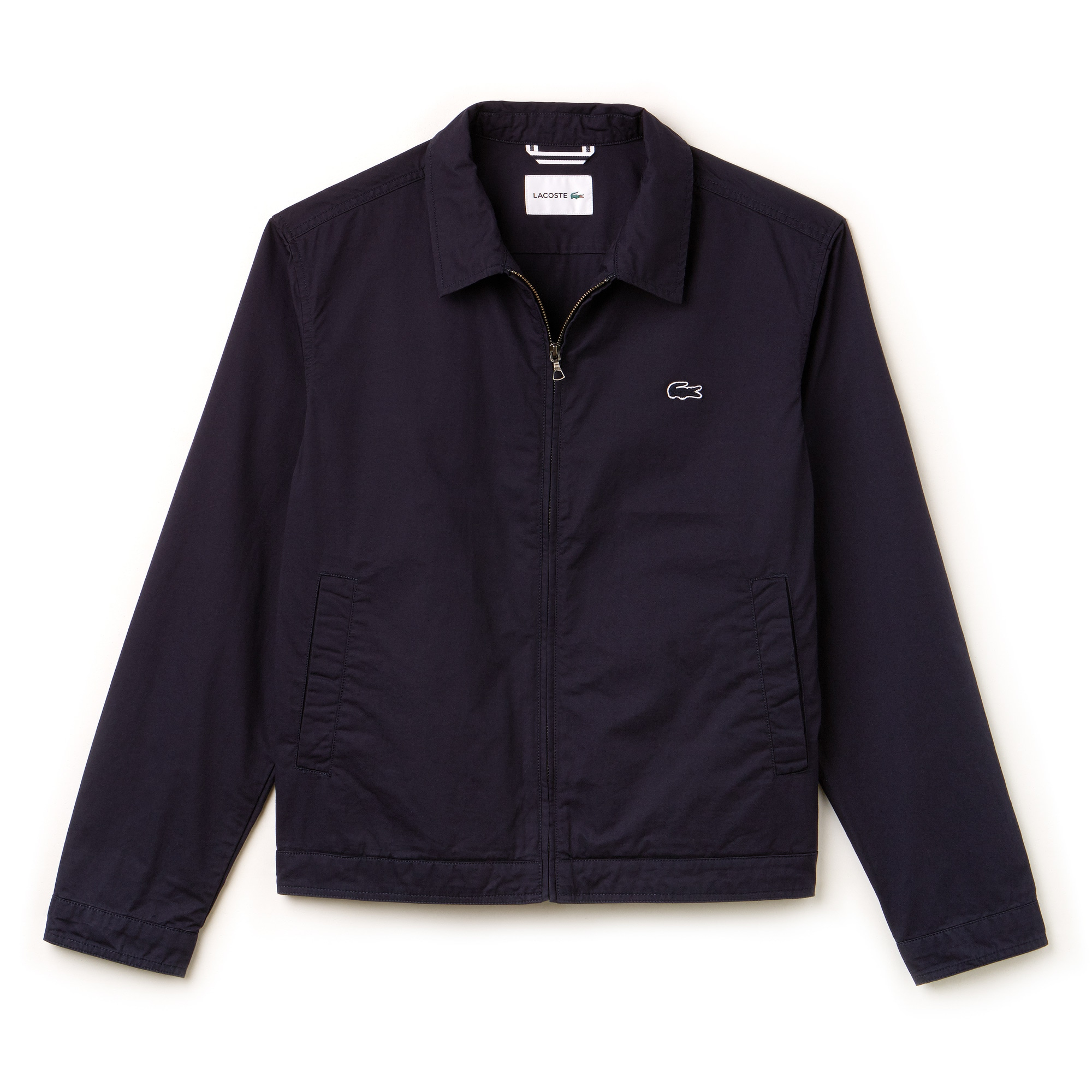 Men's Short Zip Stretch Cotton Twill Jacket