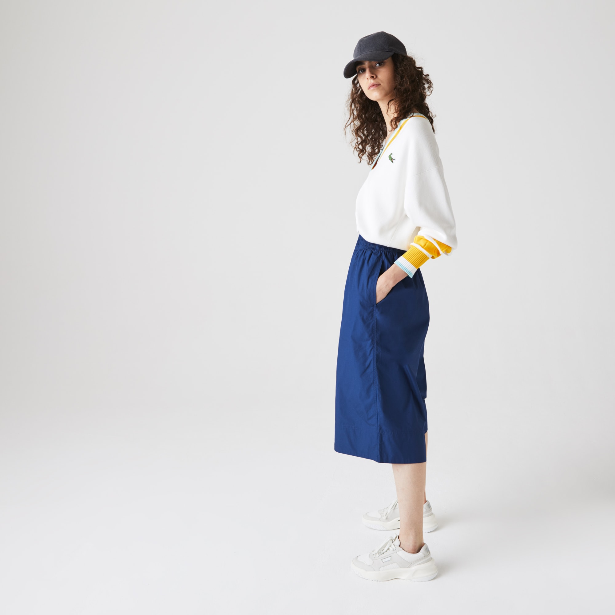 Women's Light Cotton Poplin Culottes