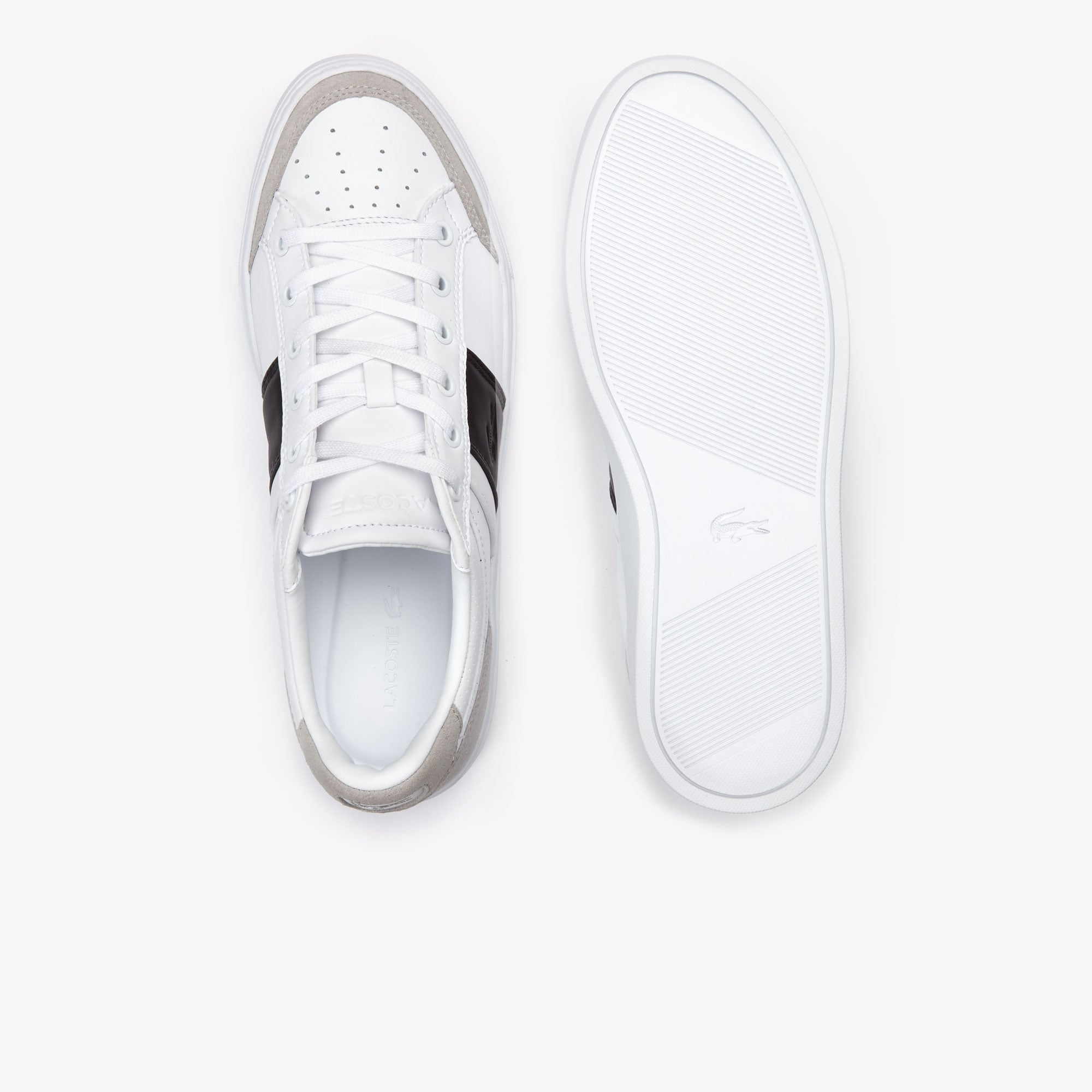 Men's Courtline Leather and Suede Trainers