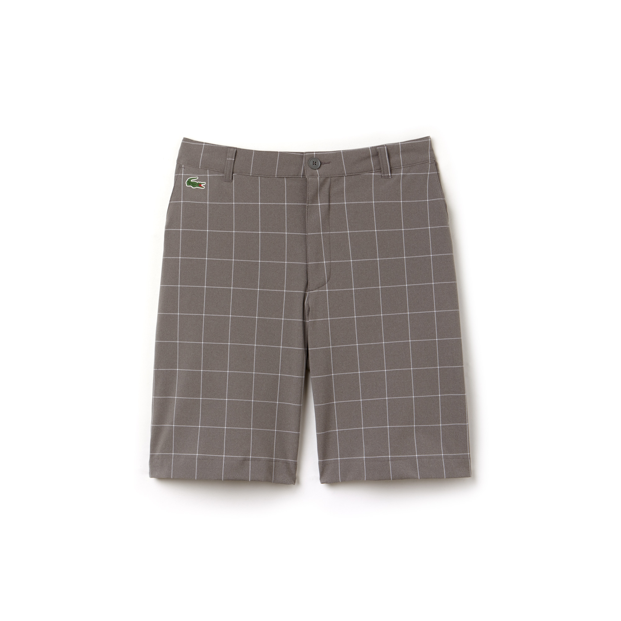 Men's Lacoste SPORT Net Print Technical Golf Bermuda Shorts