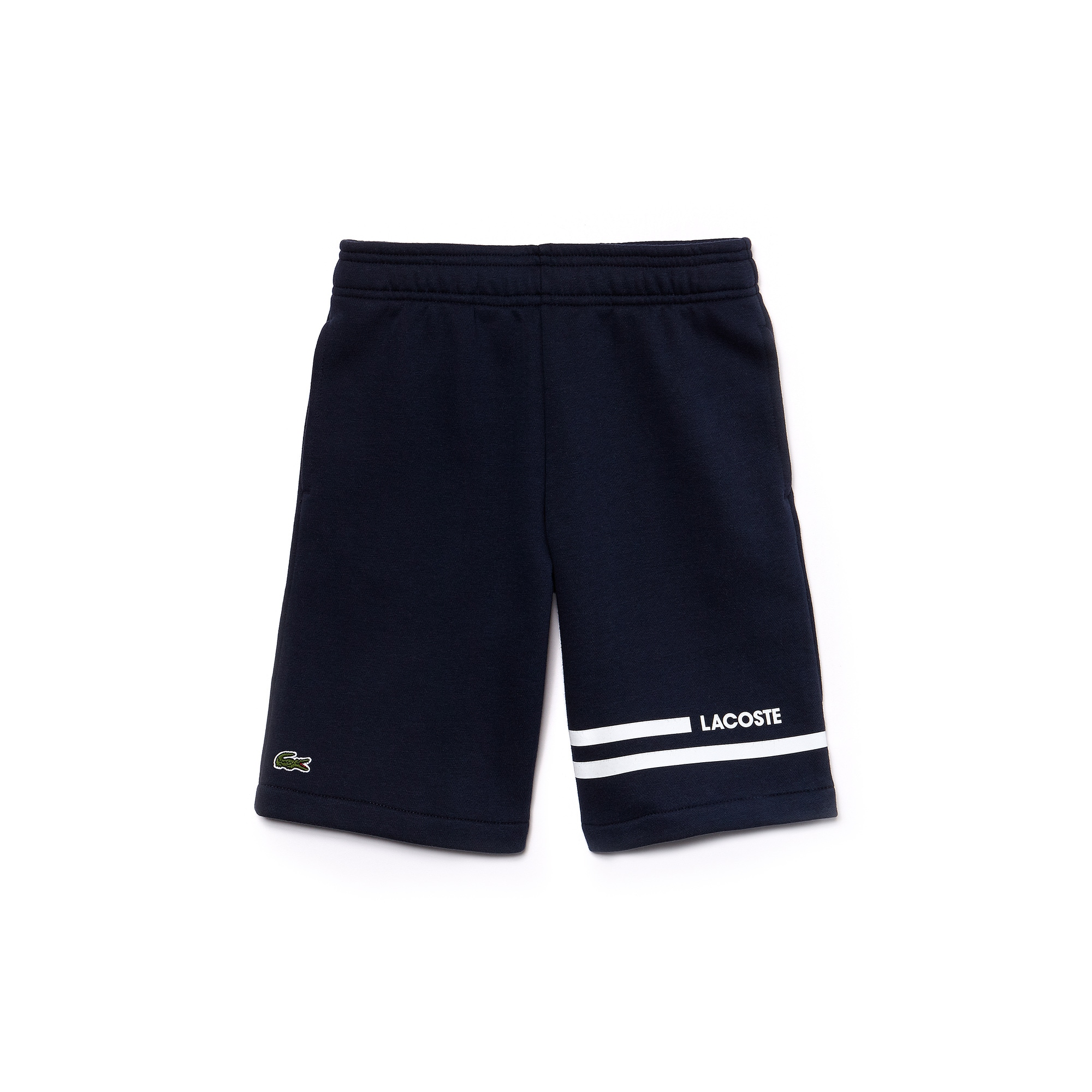 Boys' Lacoste SPORT Contrast Bands Fleece Tennis Shorts