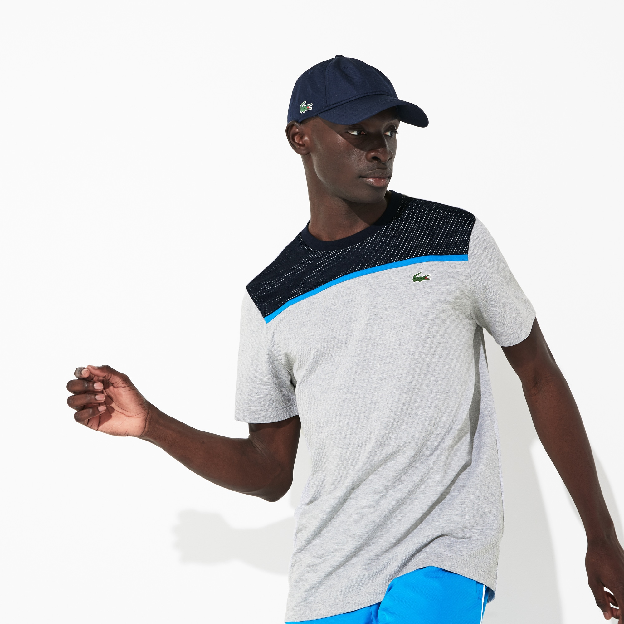 Men's Lacoste SPORT Crew Neck Ultra Light Cotton Tennis T-shirt