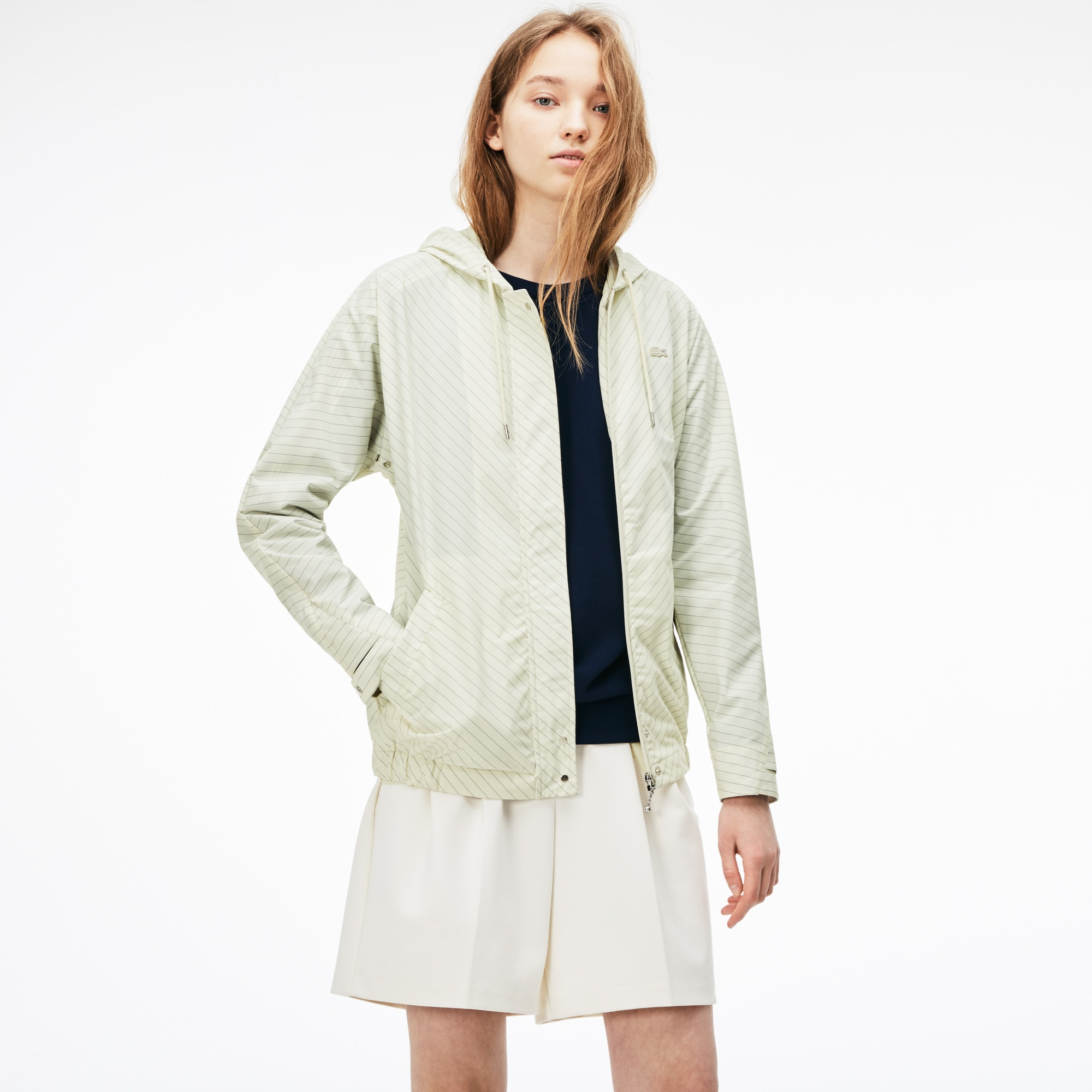 Women's Hooded Water-Resistant Taffeta Windbreaker