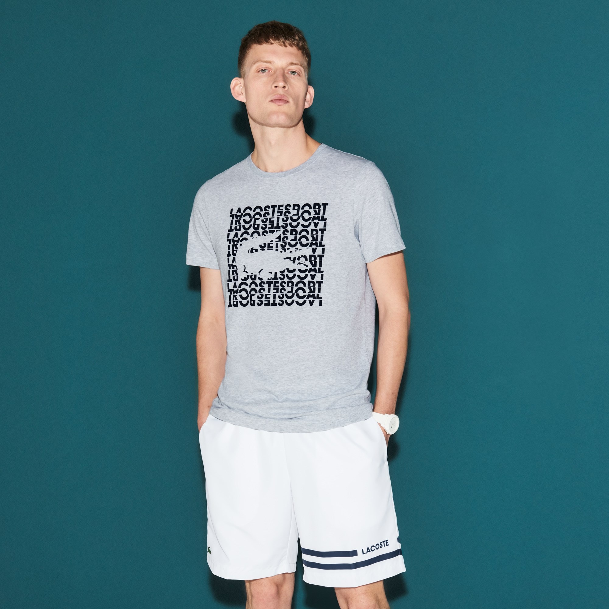 Men's Lacoste SPORT Logo Technical Jersey Tennis T-shirt