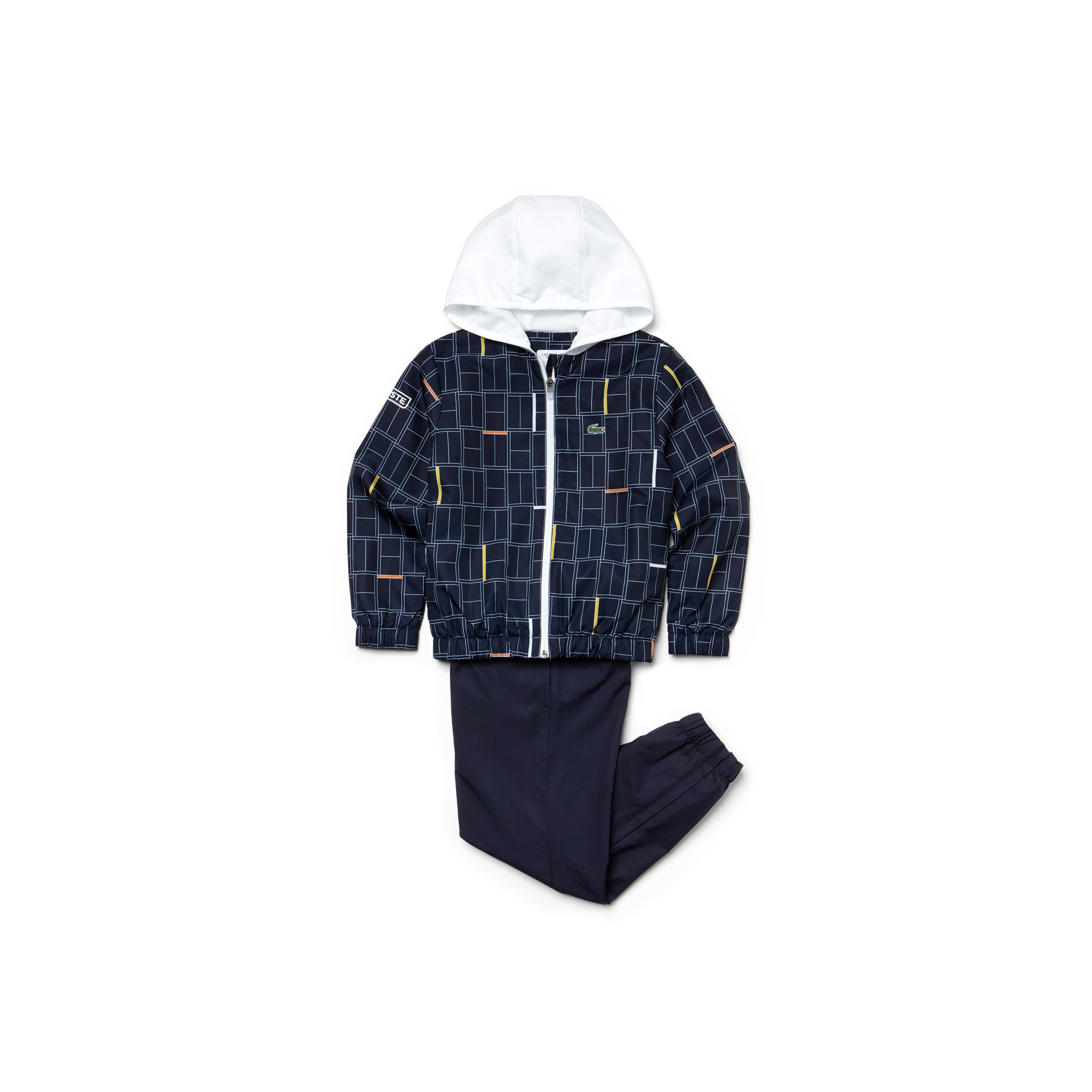 Boys' LACOSTE SPORT NOVAK DJOKOVIC COLLECTION Print Taffeta Tracksuit