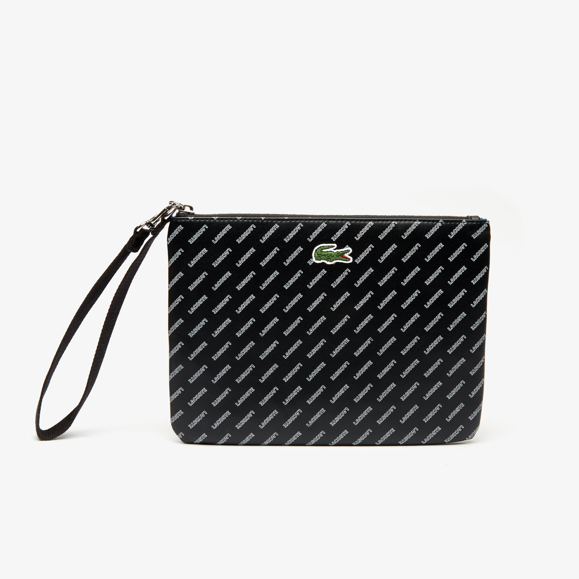 Women's Lacoste LIVE Wrist Loop Coated Print Canvas Clutch