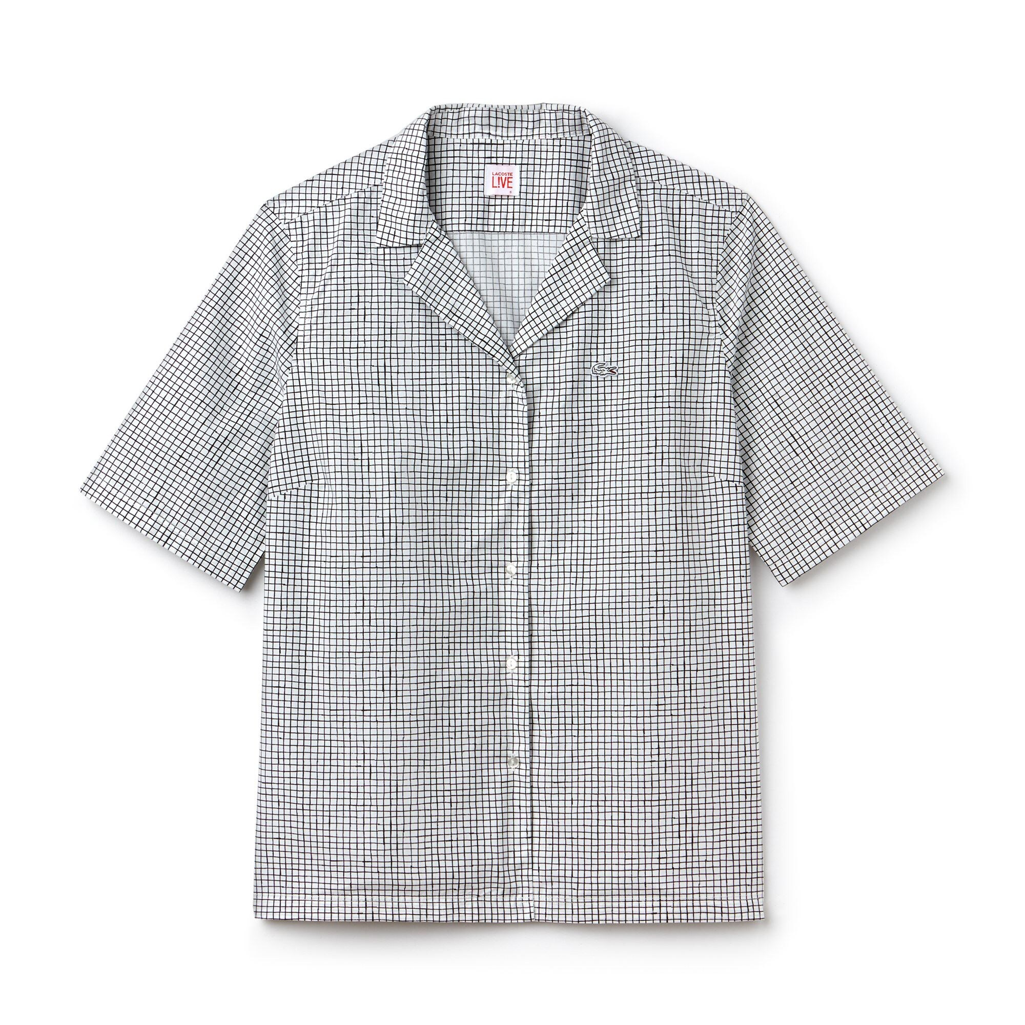 Women's Lacoste LIVE Print Poplin Shirt