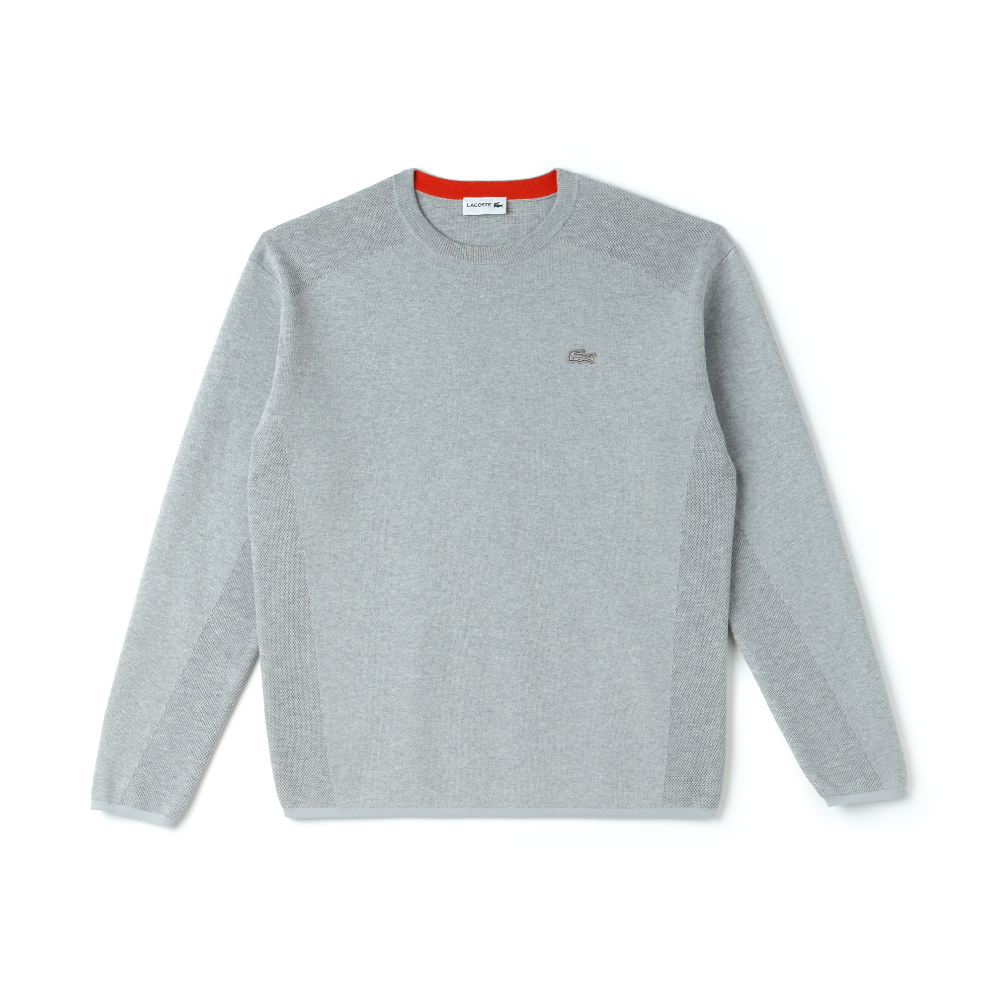 Men's Lacoste Motion Crew Neck Coolmax Cotton Sweater