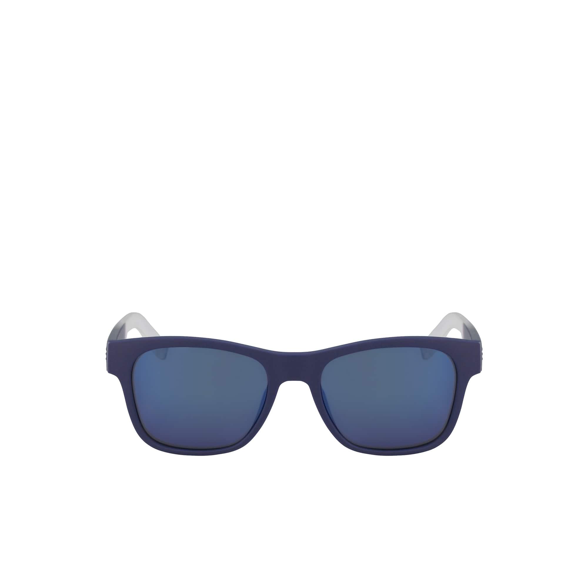 Plastic Color Block - Fan Sunglasses