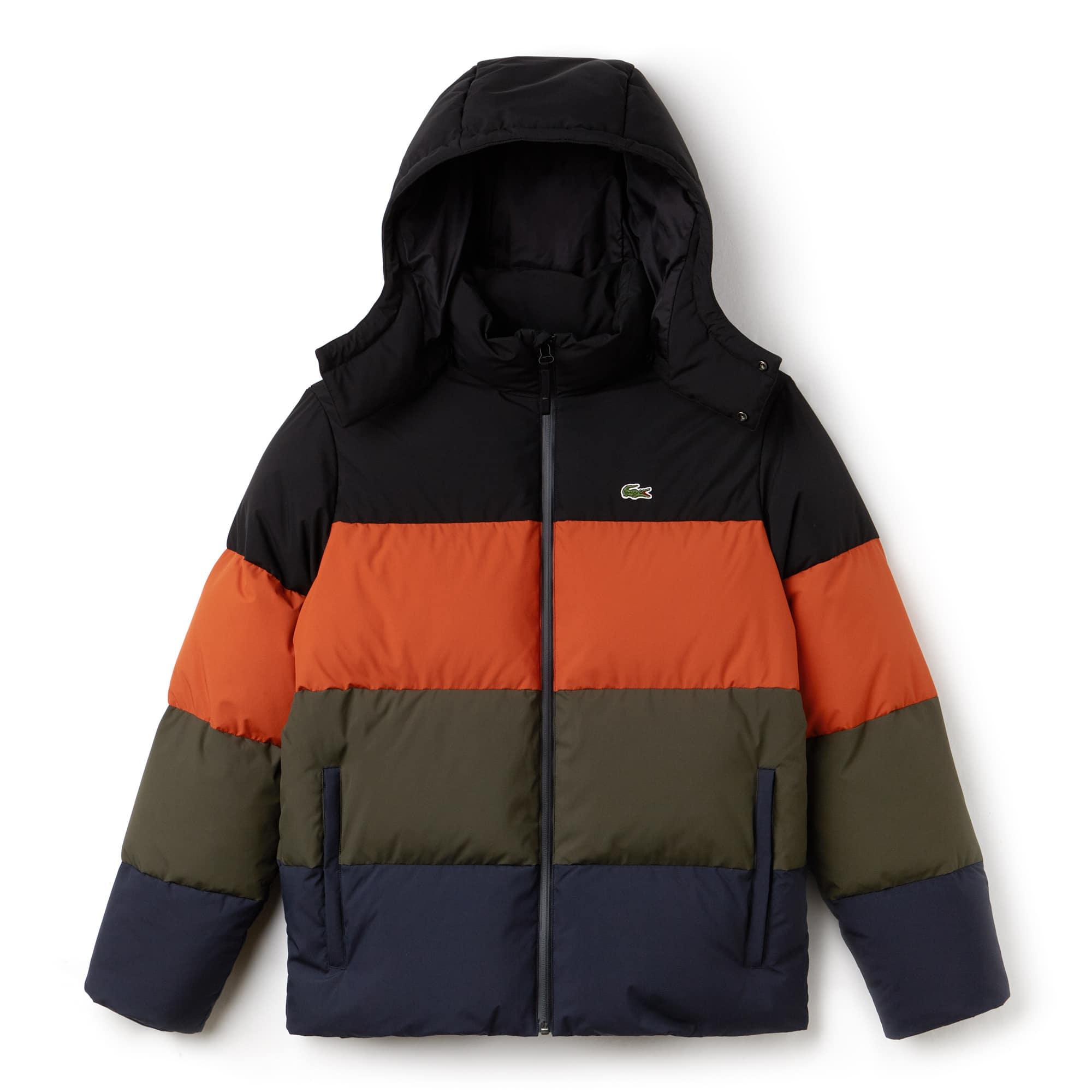 Men's Detachable Hood Down Water-Resistant Taffeta Jacket