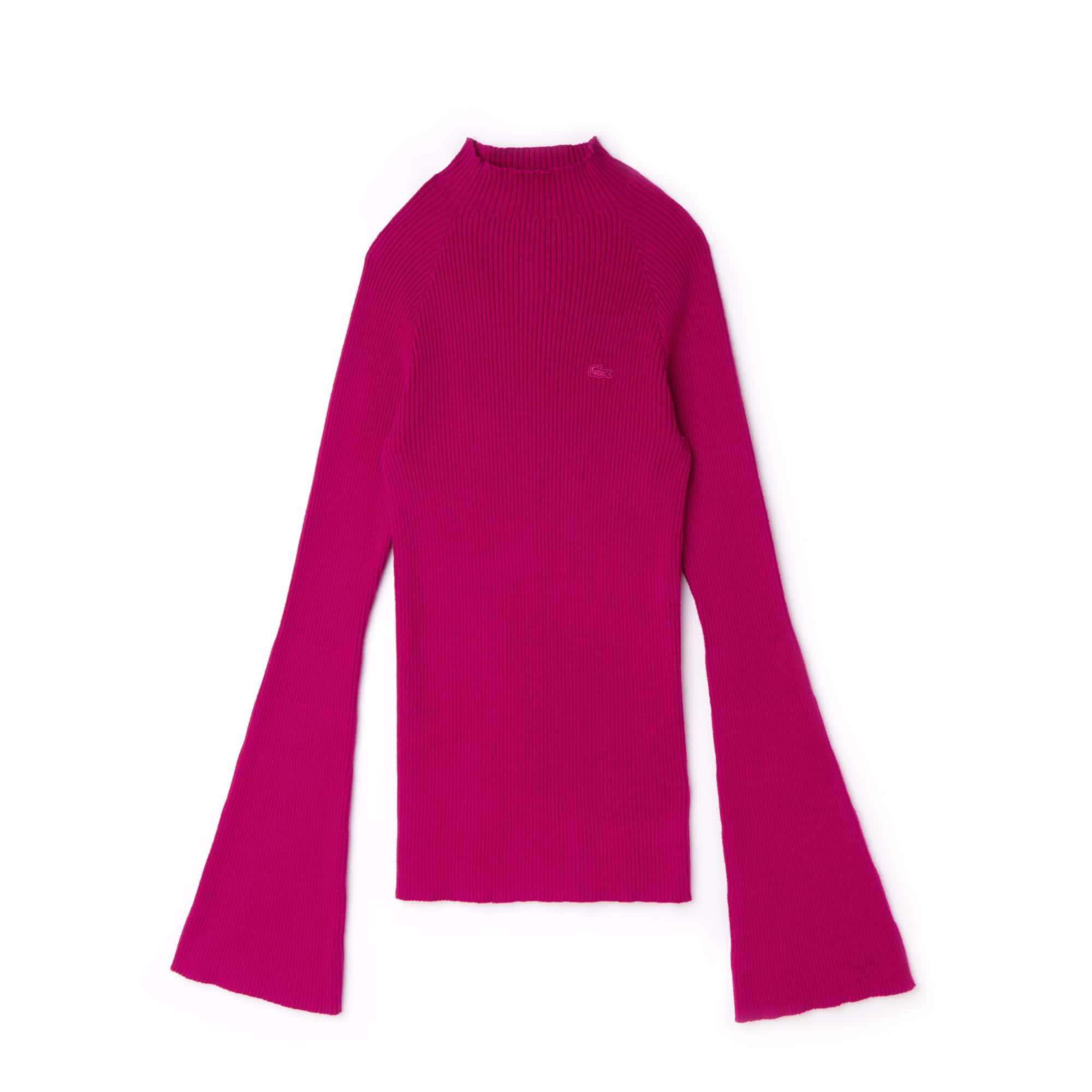 2cb39410da Women's Lacoste LIVE Ribbed Cotton And Cashmere Sweater   LACOSTE