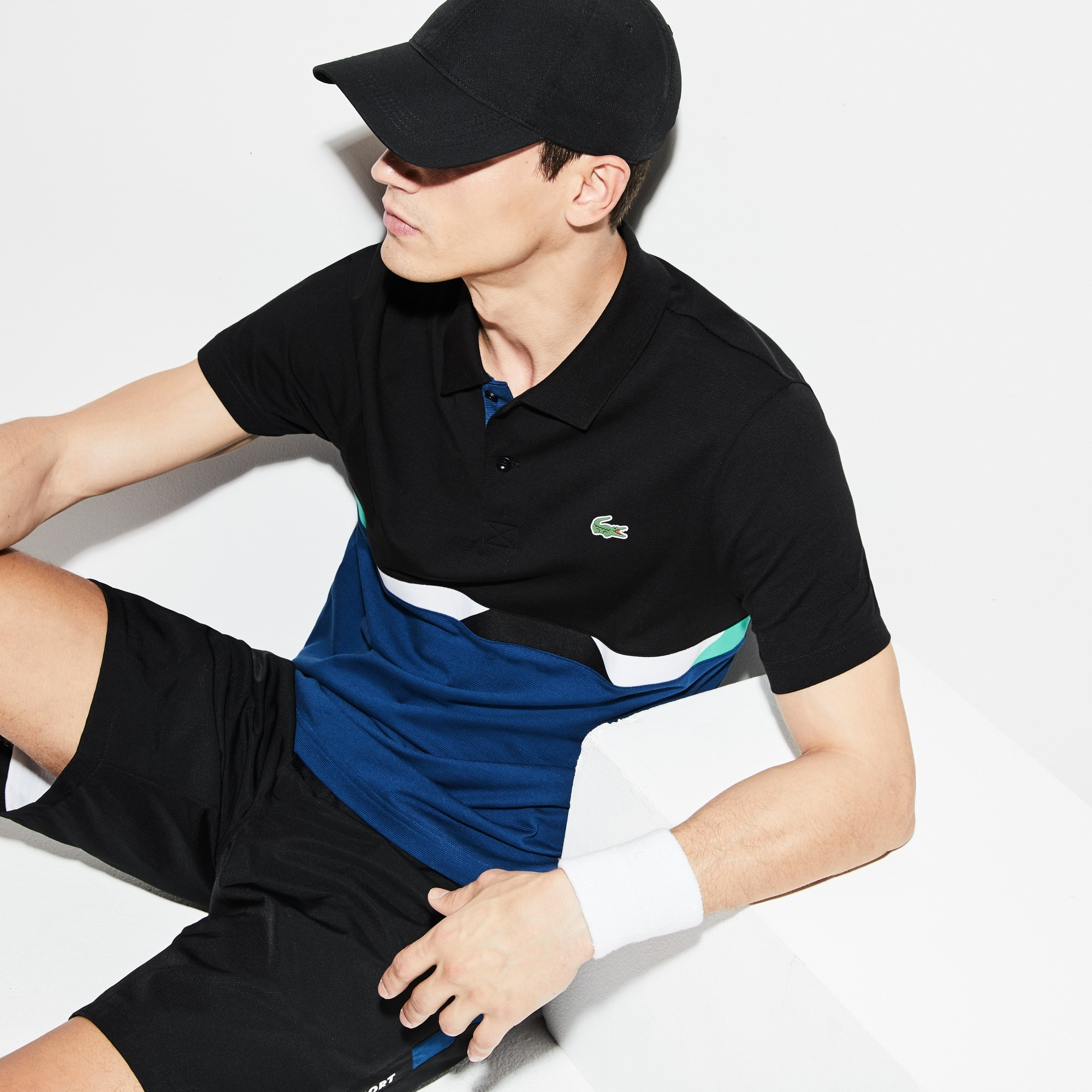 Men's Lacoste SPORT Colorblock Ultra-Light Cotton Tennis Polo
