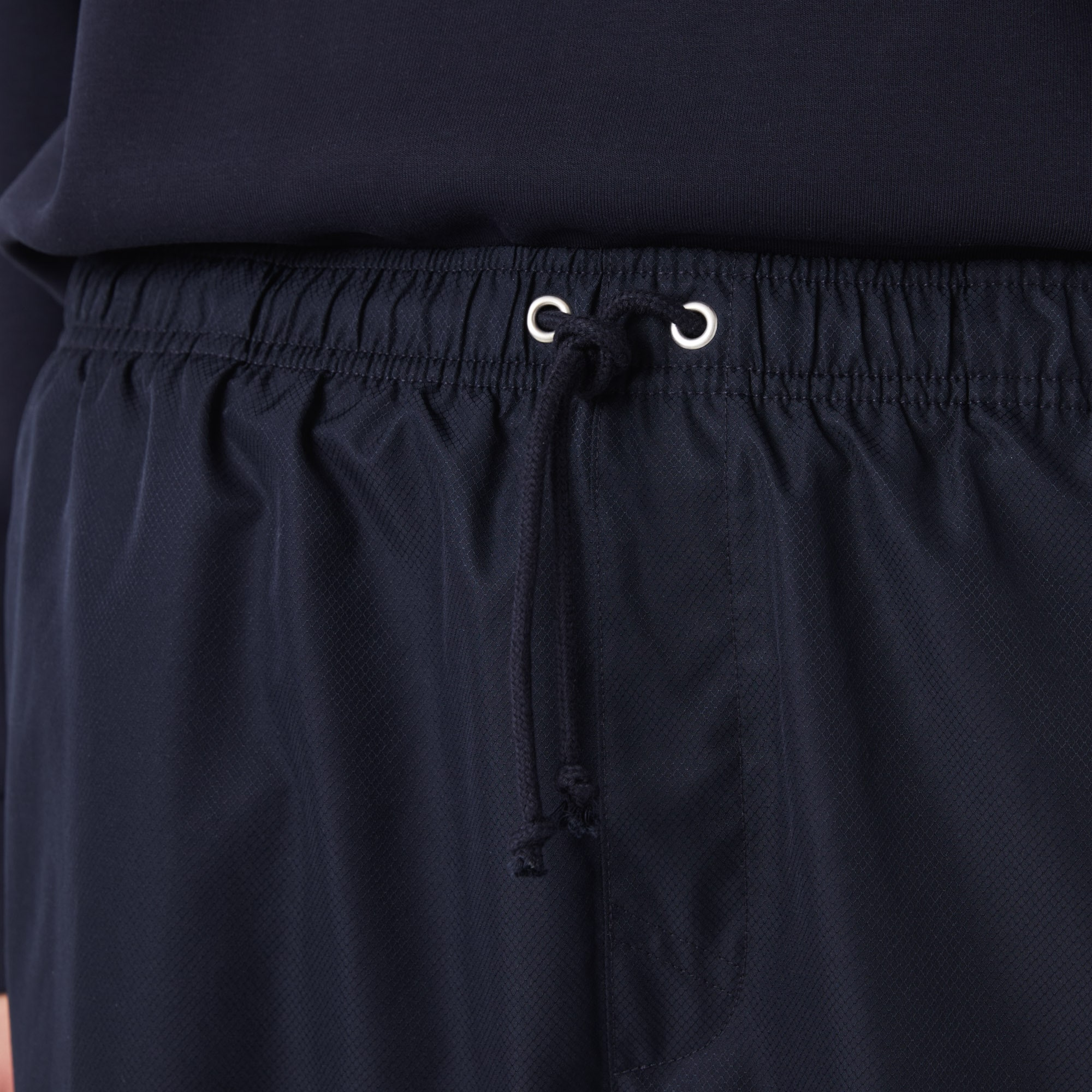 Men's Lacoste SPORT tennis shorts in solid diamond weave taffeta