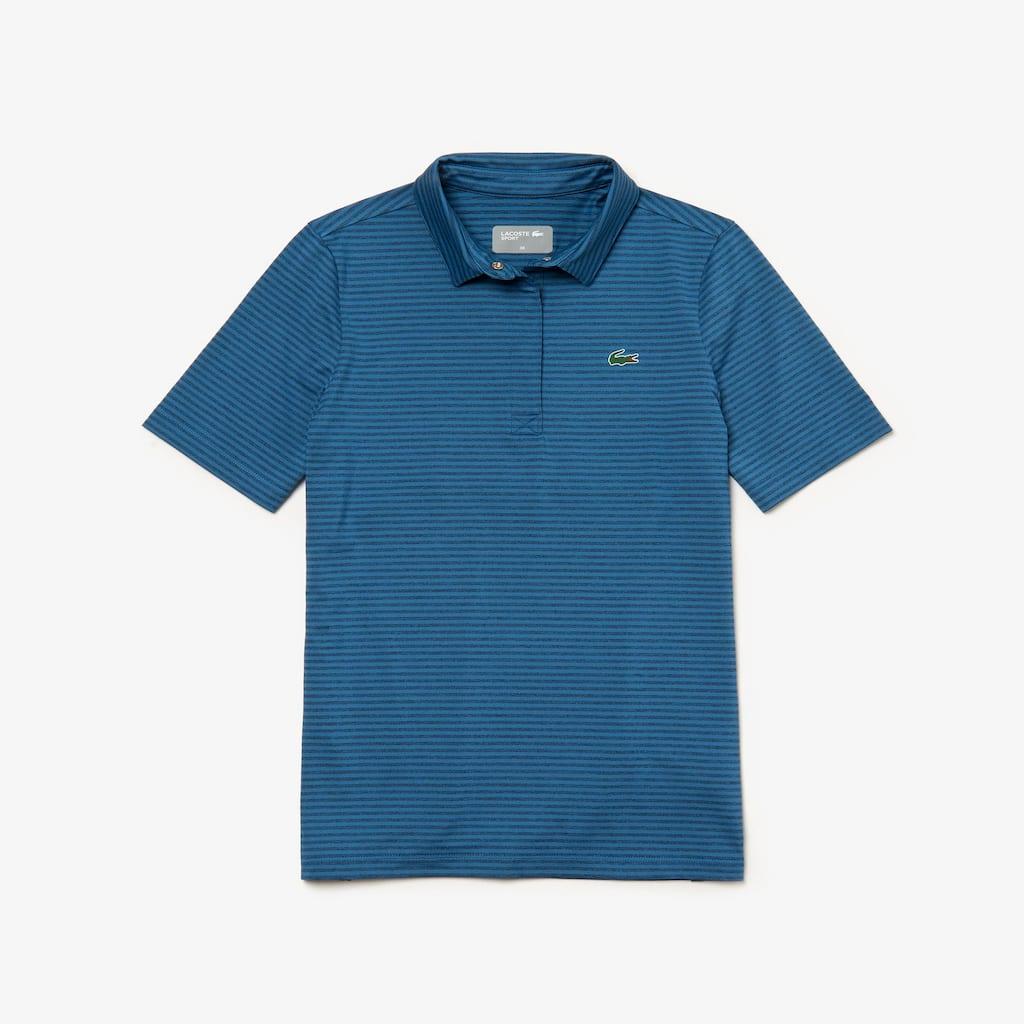 Women s Lacoste SPORT Snap Neck Striped Technical Golf Polo Shirt ... b33cdf25ba