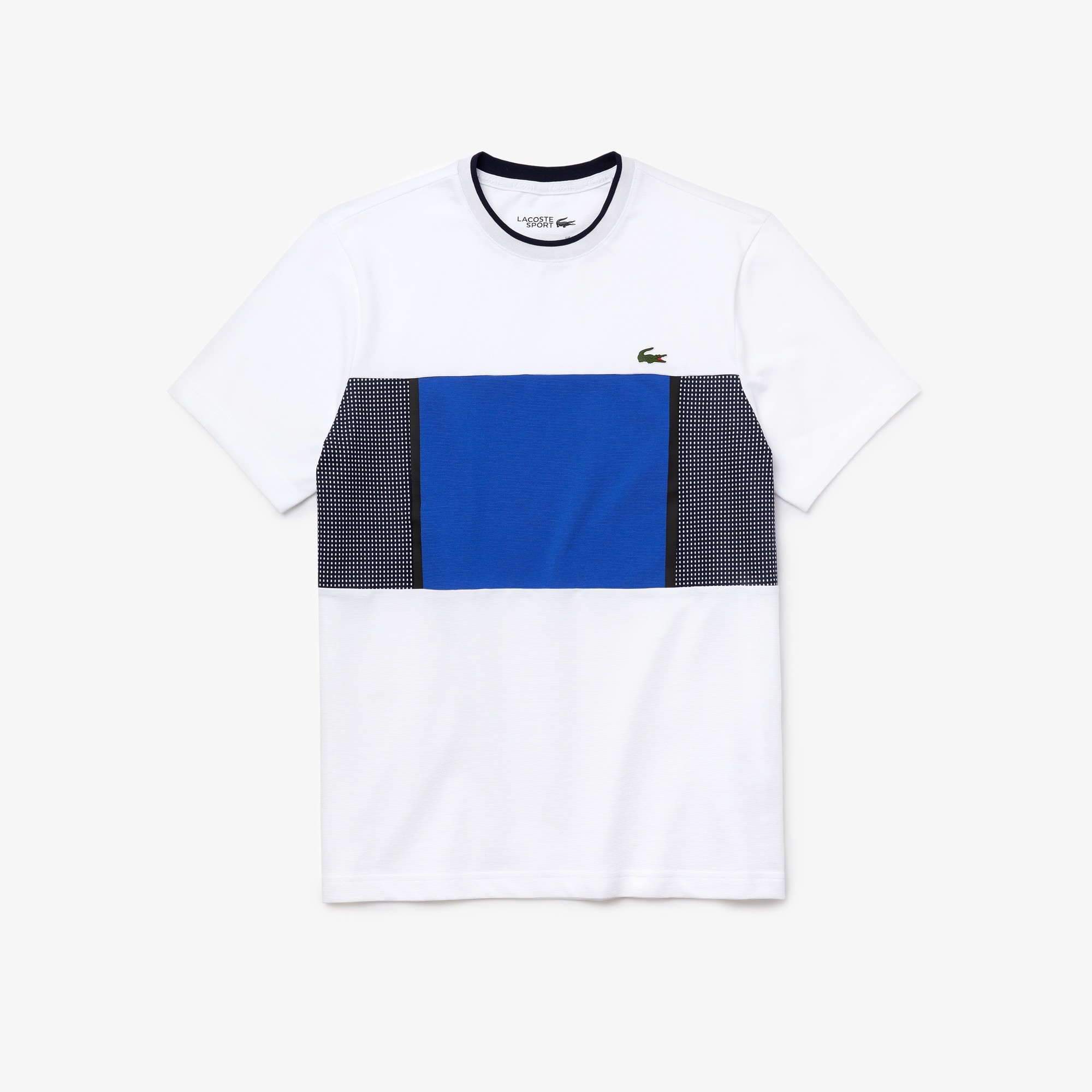 MENS RUBBER T SHIRT WITH SPORTS STRIPES