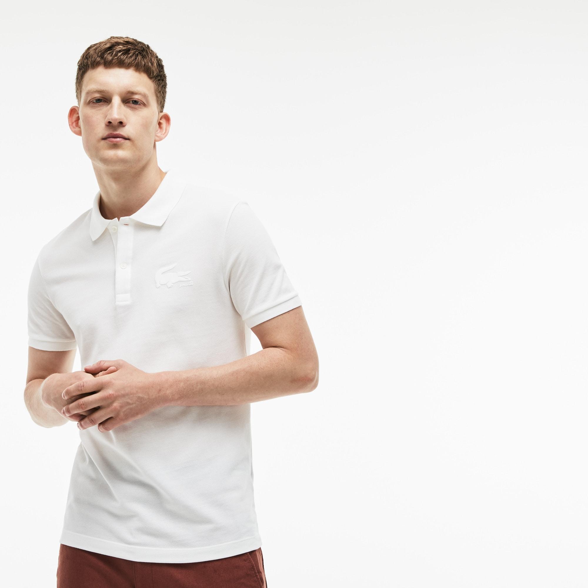 Men's Lacoste Slim Fit Crocodile Logo Petit Piqué Polo Shirt
