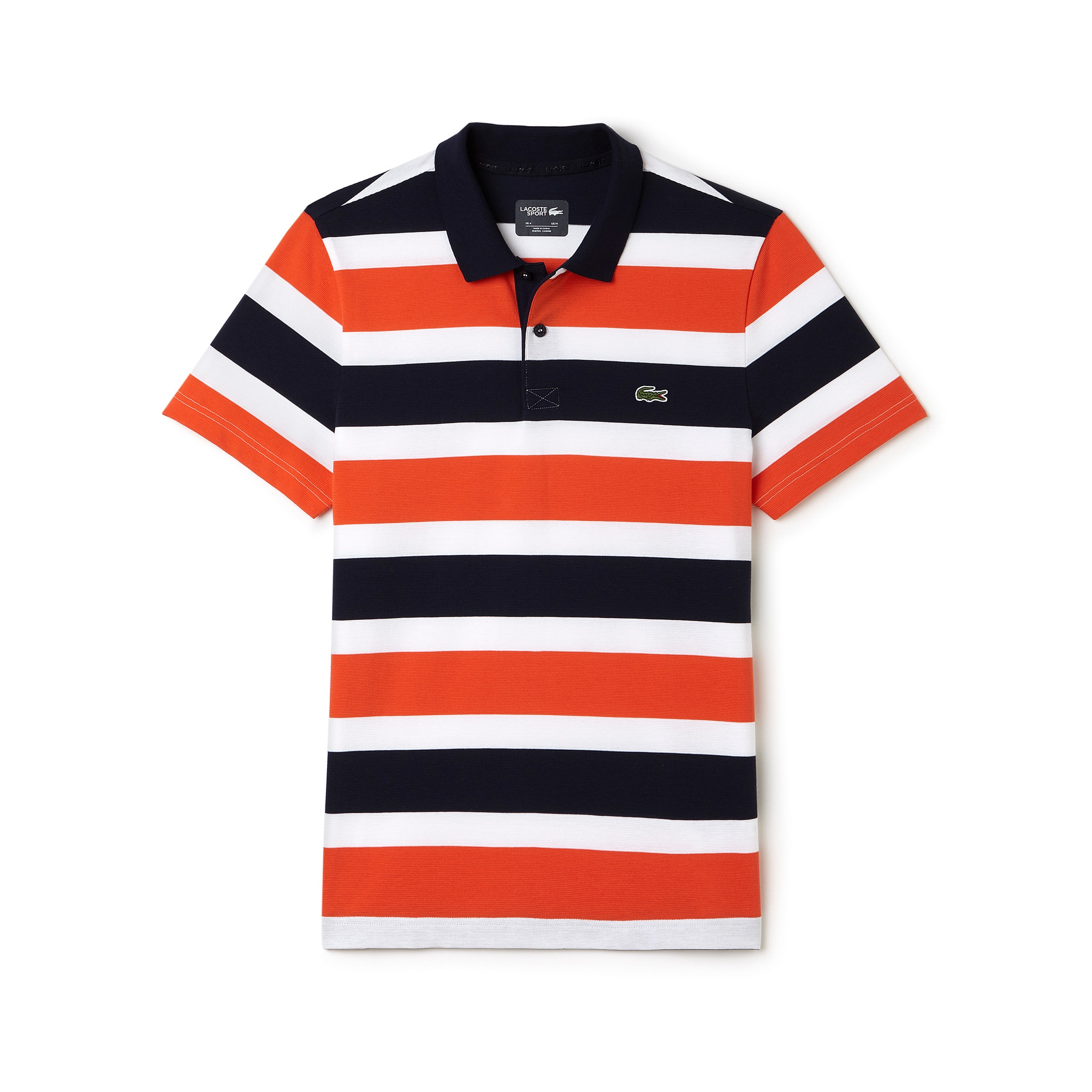 Men's Lacoste SPORT Tennis Ultra-Light Striped Knit Polo