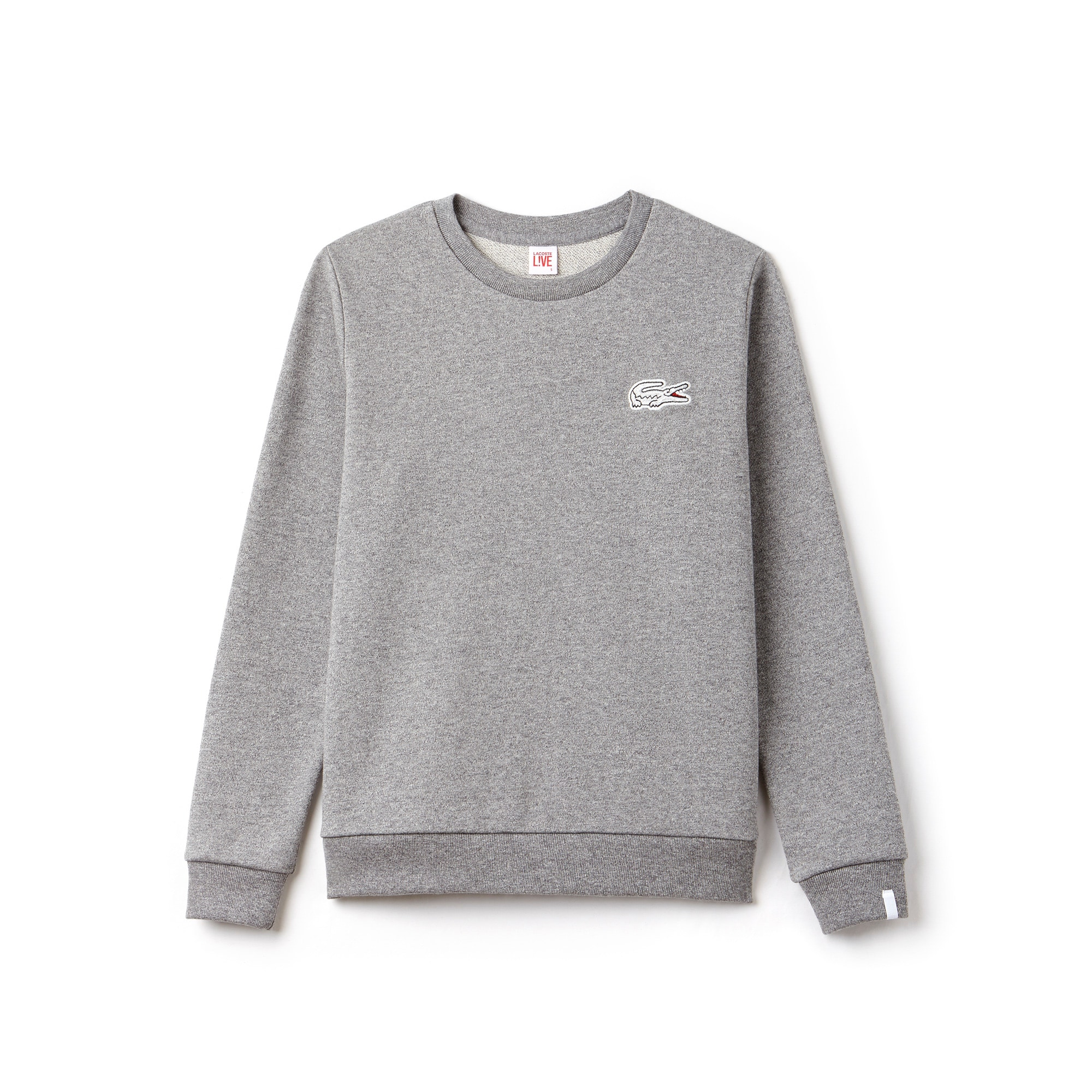 Women's Lacoste LIVE Oversized Crocodile Fleece Sweatshirt