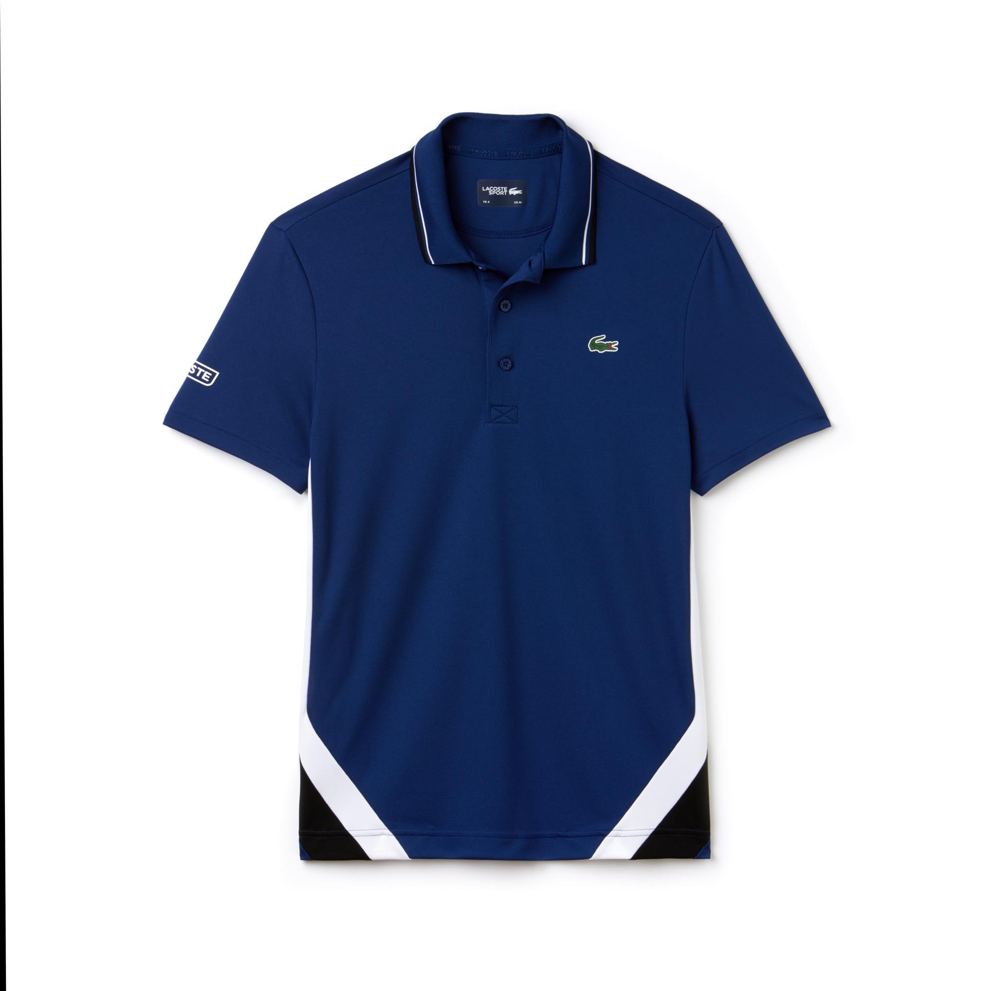 Men's Lacoste SPORT Colorblock Bands Technical Piqué Tennis Polo