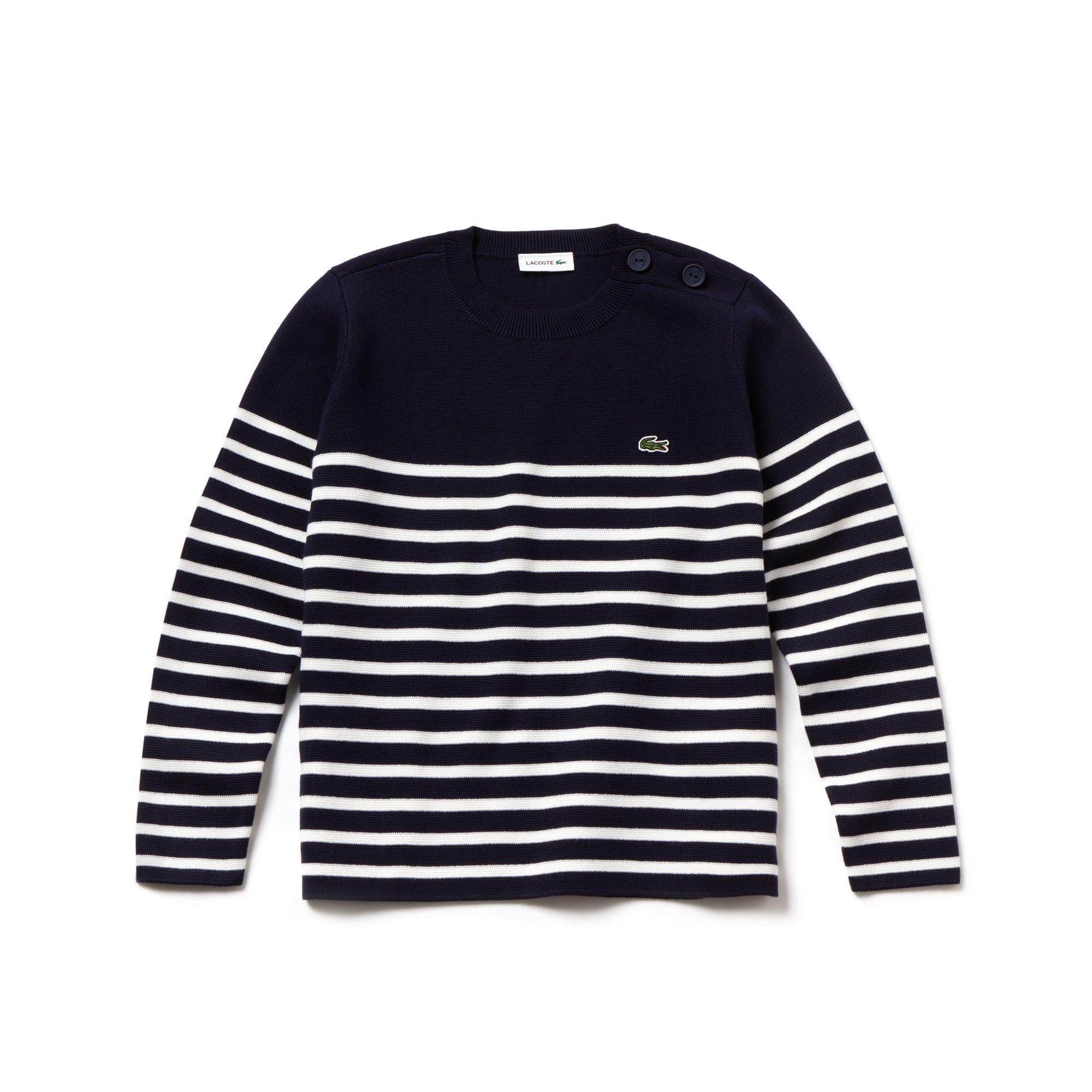 Boys' Crew Neck Striped Milano Cotton Sweater