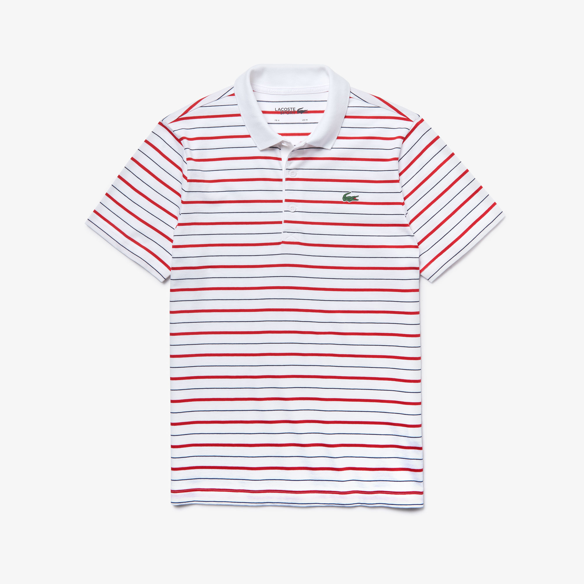 Men's Lacoste SPORT L.12.12 Striped Technical Jersey Polo Shirt