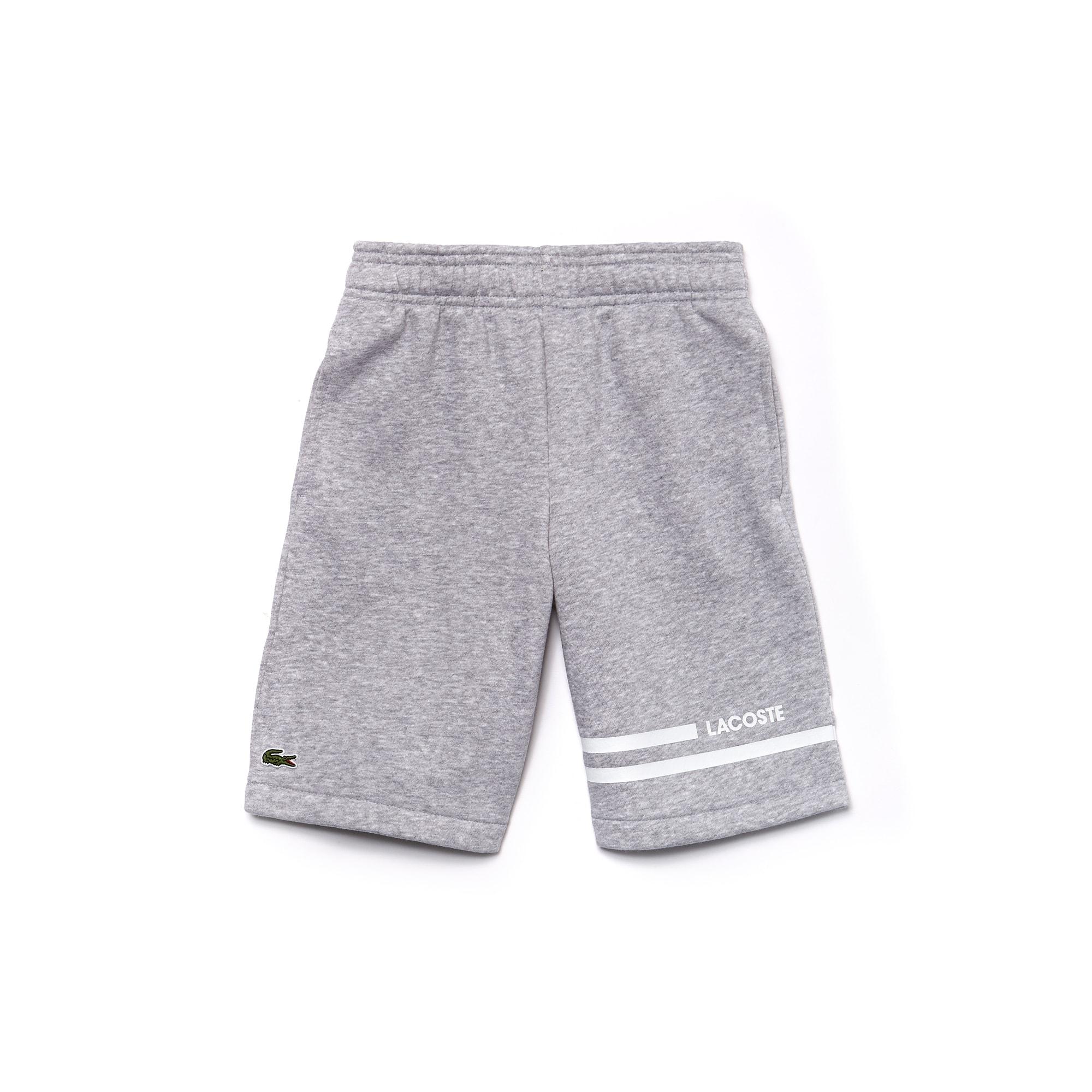 Boys' Lacoste SPORT Contrast Bands Fleece Tennis Shorts