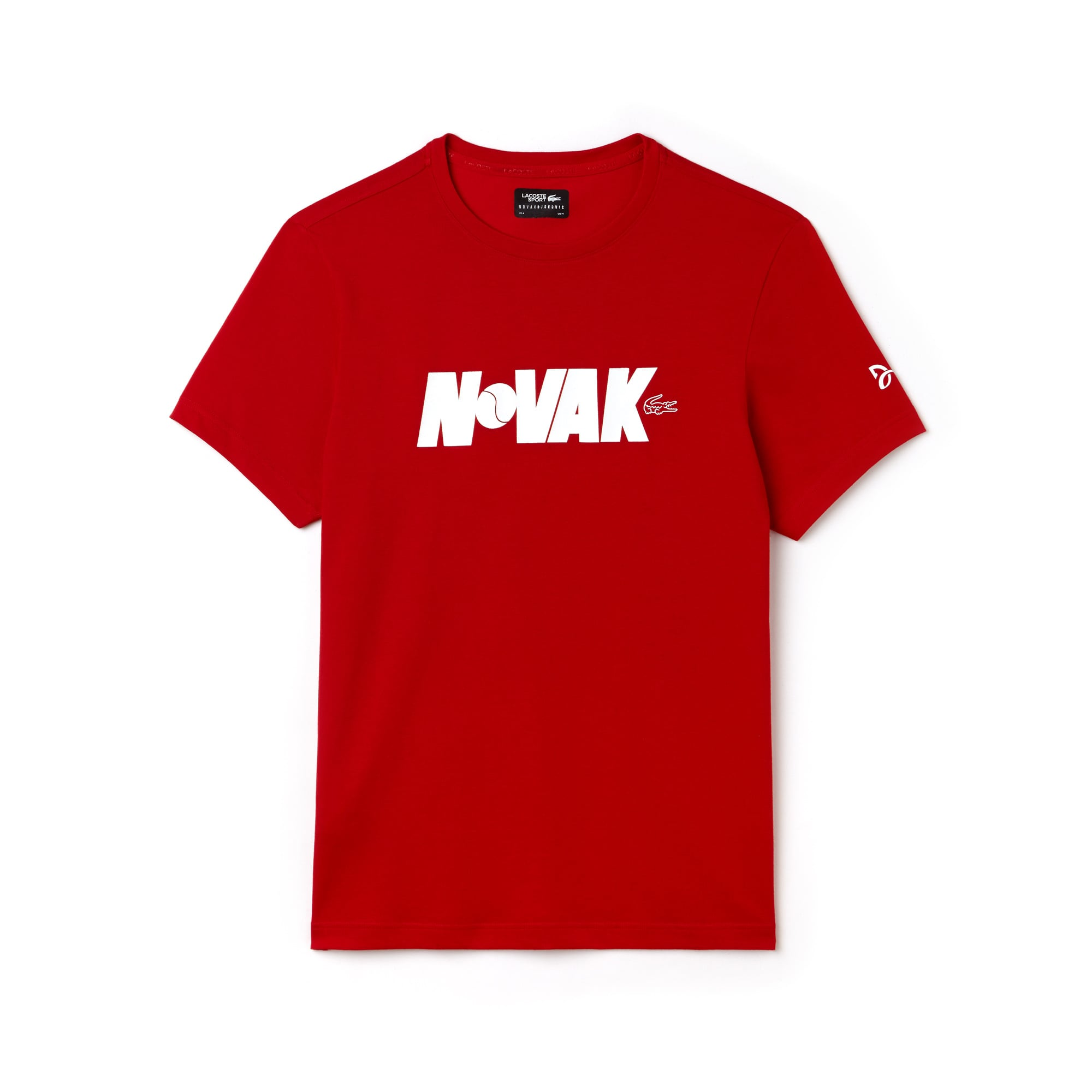 Men's Lacoste SPORT NOVAK DJOKOVIC SUPPORT WITH STYLE COLLECTION Crew Neck Technical Jersey T-shirt