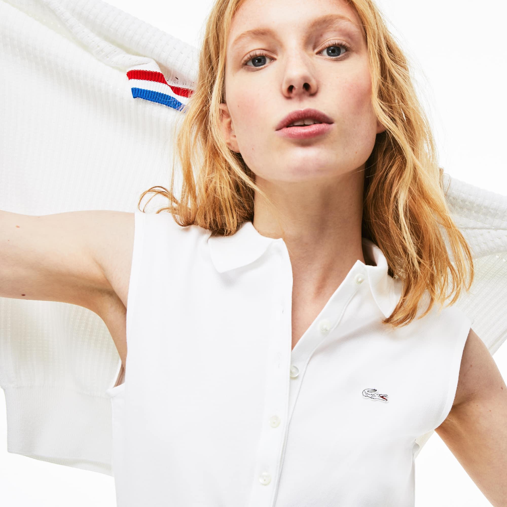 Fit Stretch Polo Shirt Women's Slim Lacoste Mini Piqué VSUMqzpG