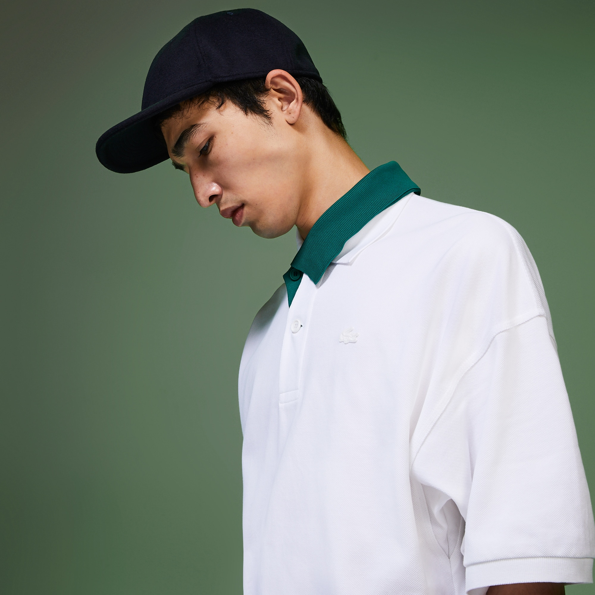 Men's Fashion Show Polo Shirt with Contrasted Collar
