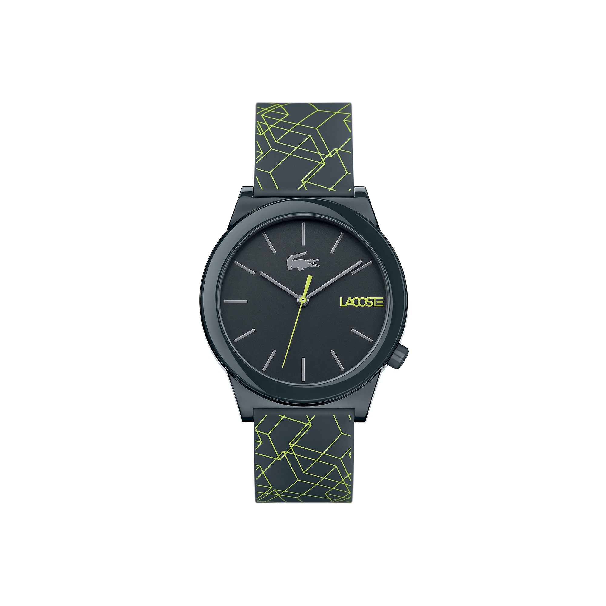 Men's Motion Watch with Grey Silicone Strap