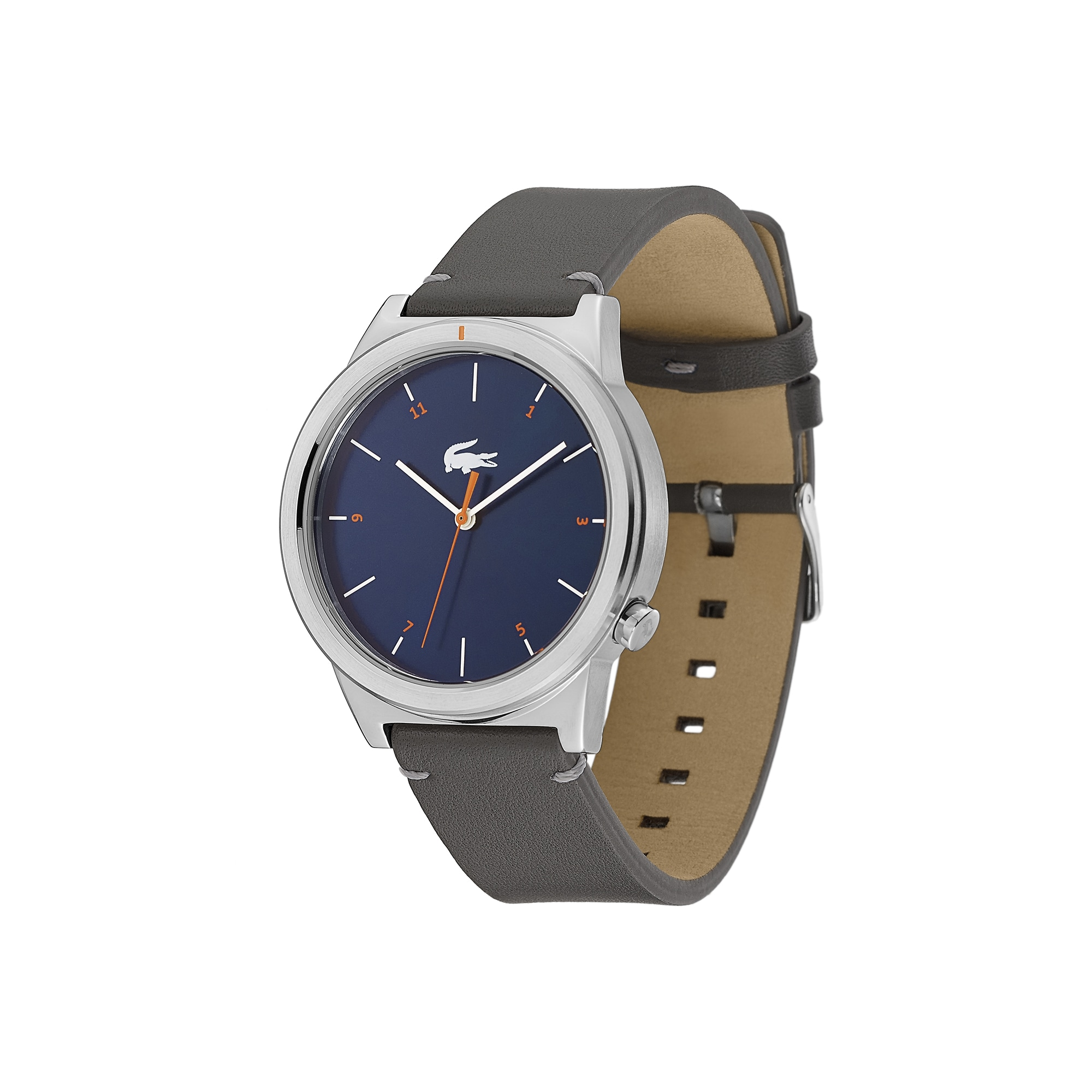 Men's Motion Watch with Grey Leather Strap