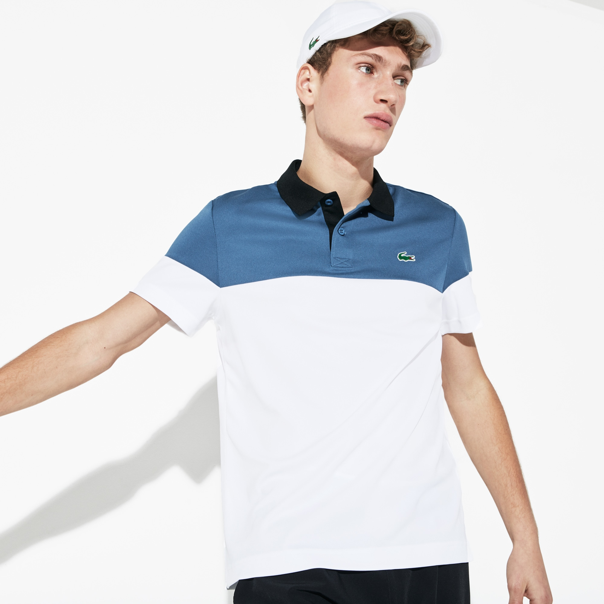 Men's Lacoste SPORT Colourblock Breathable Tech Piqué Tennis Polo Shirt