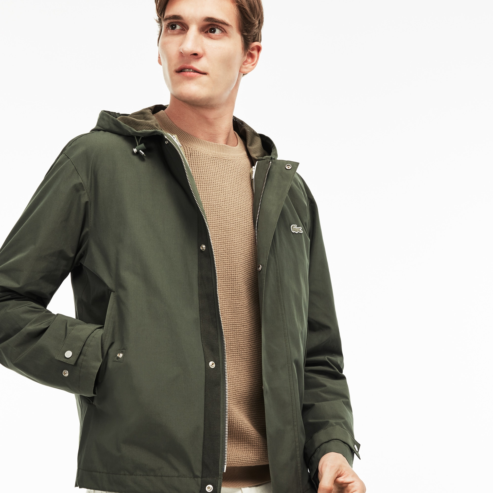 Men's Quilted Hooded 3-in-1 Taffeta Jacket