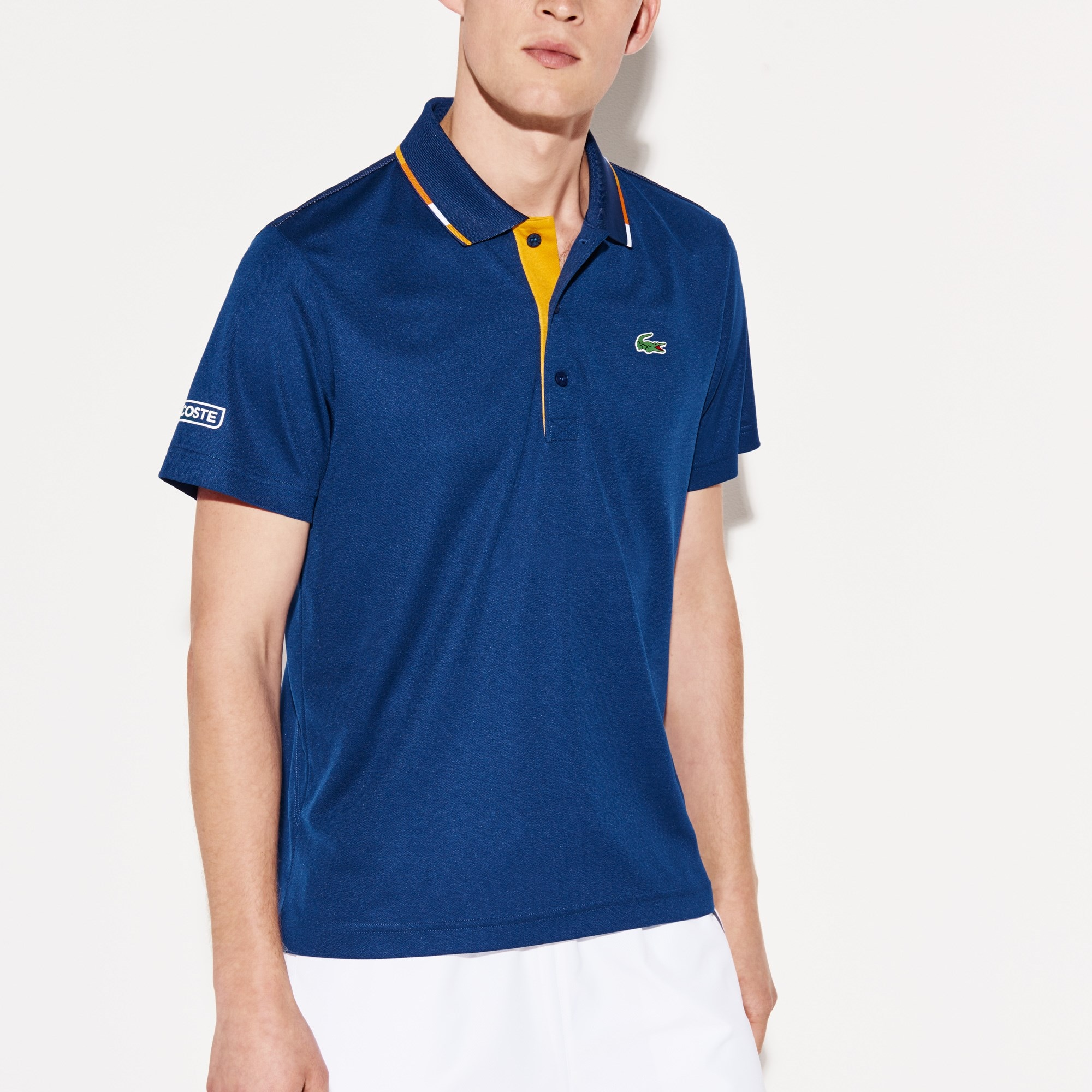 Men's Lacoste SPORT Piped Technical Piqué Tennis Polo Shirt