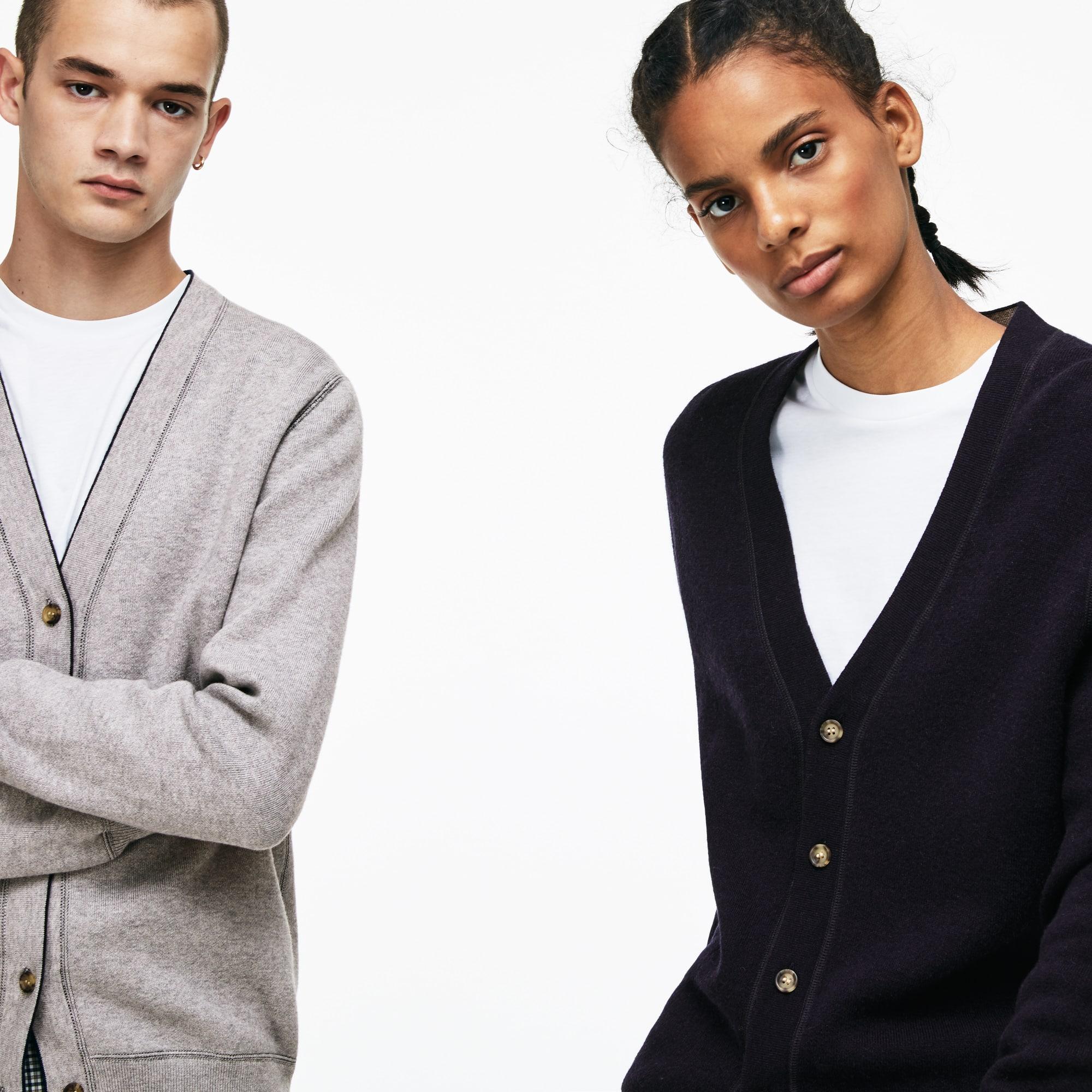 Unisex Lacoste LIVE Reversible Wool Jersey Cardigan