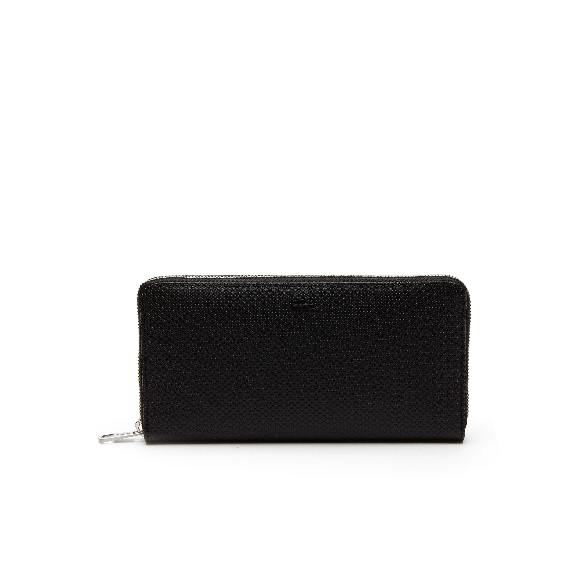 Men's Chantaco Piqué Leather 16 Card Zip Wallet