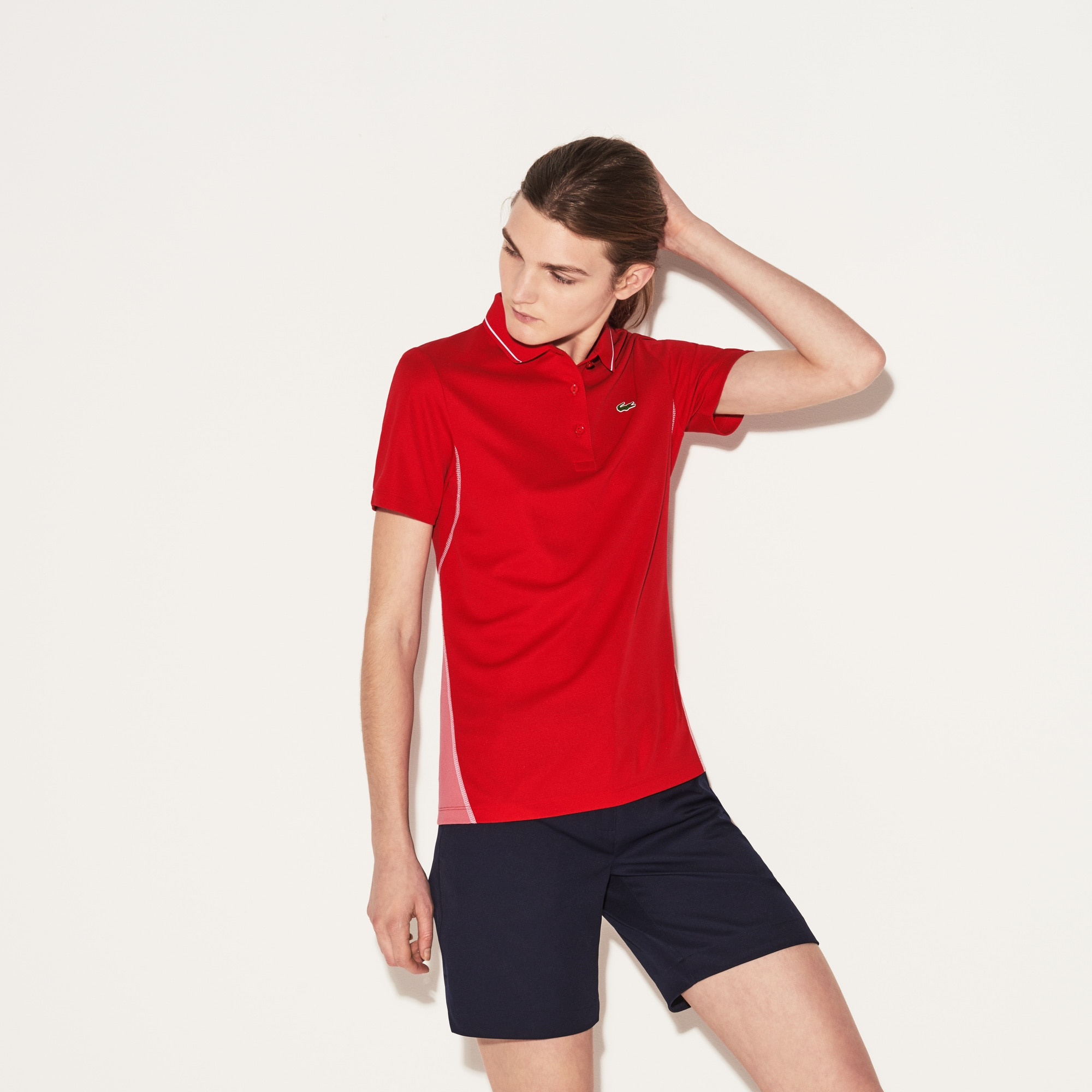 Women's Lacoste SPORT Technical Cotton Knit Golf Polo Shirt
