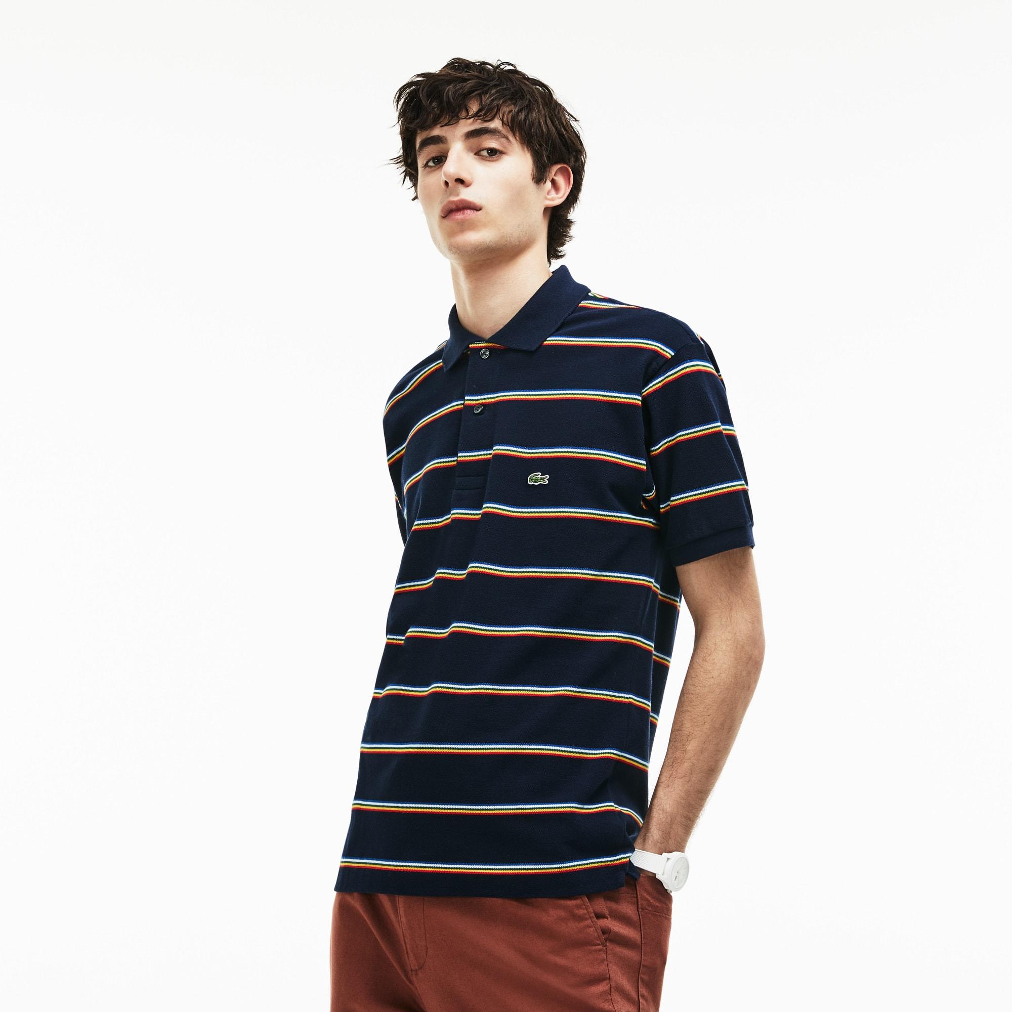 Men's Lacoste L.12.12 Striped Cotton Piqué Polo Shirt