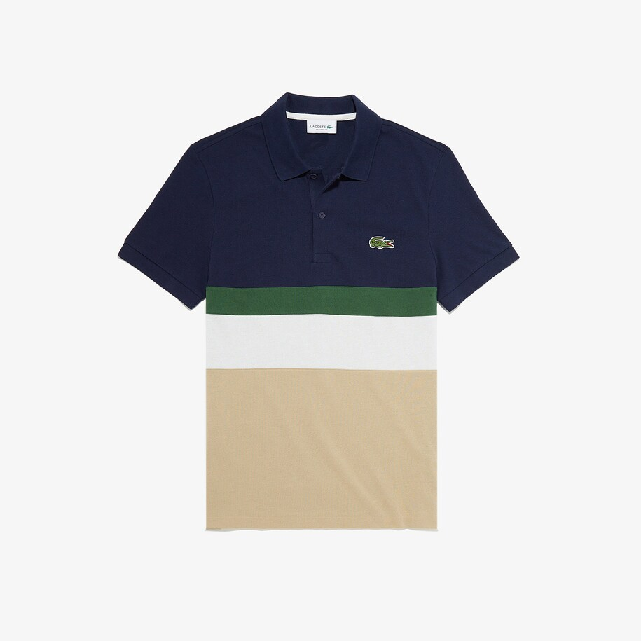 Men's Lacoste Regular Fit Colourblock Cotton Piqué Polo Shirt