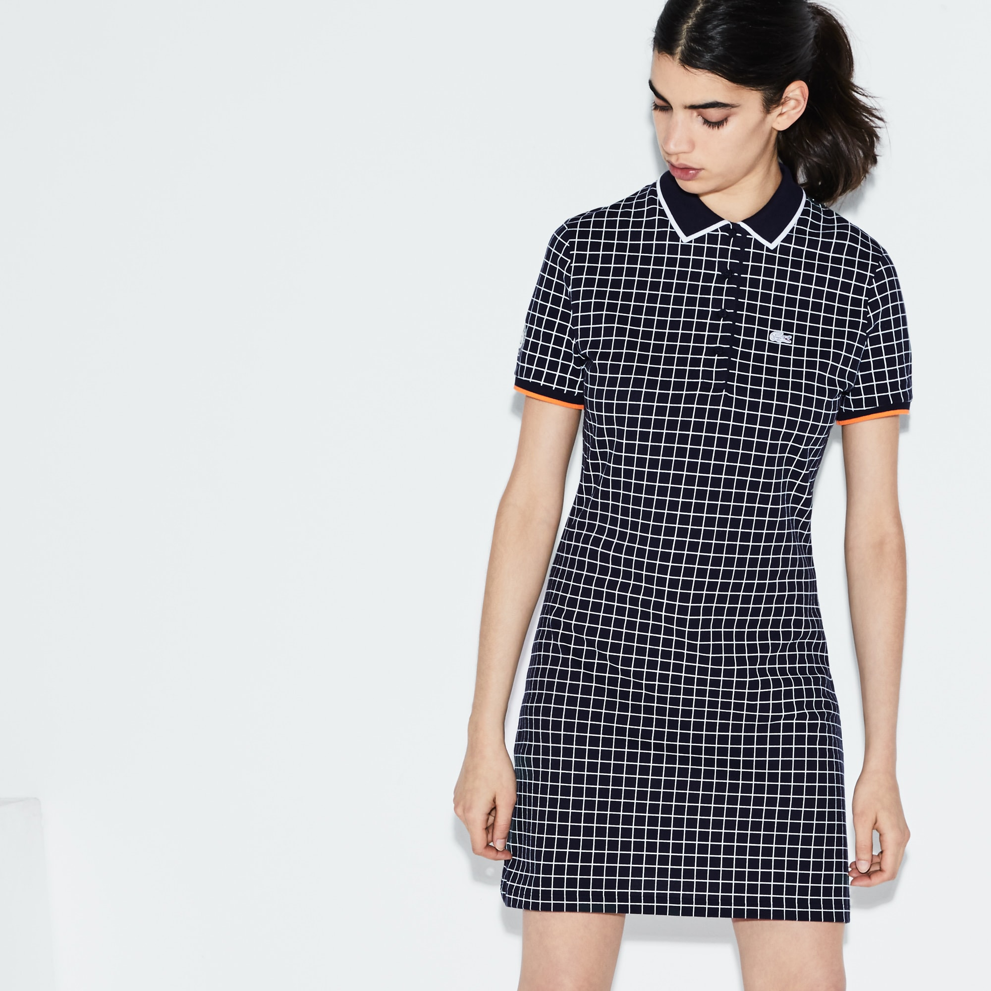 Women's Lacoste SPORT Roland Garros Edition Print Mini Piqué Polo Dress