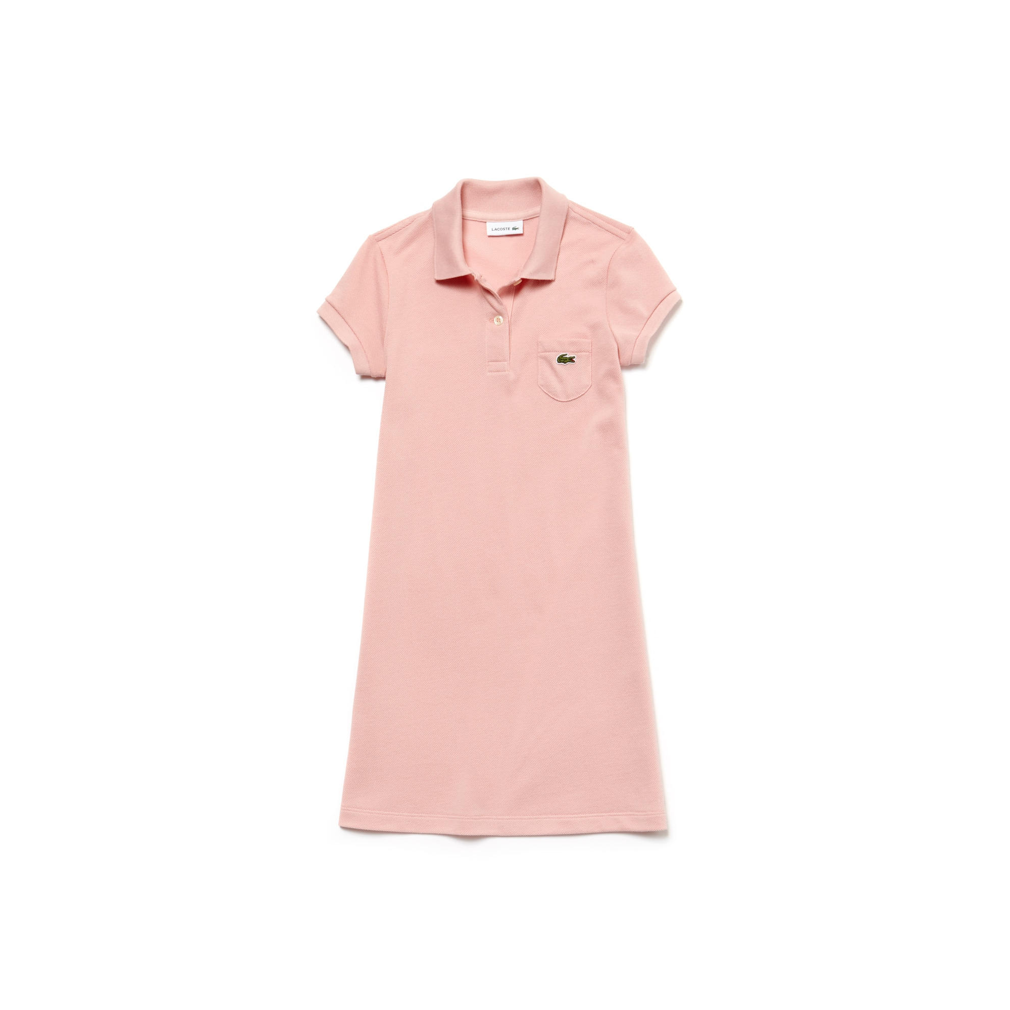 Lacoste polokleid pink