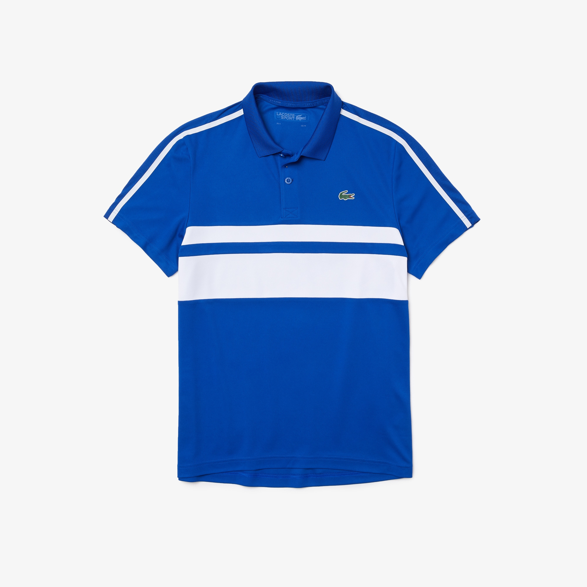 Mens Lacoste Sport Breathable Resistant Pique Polo in Blue