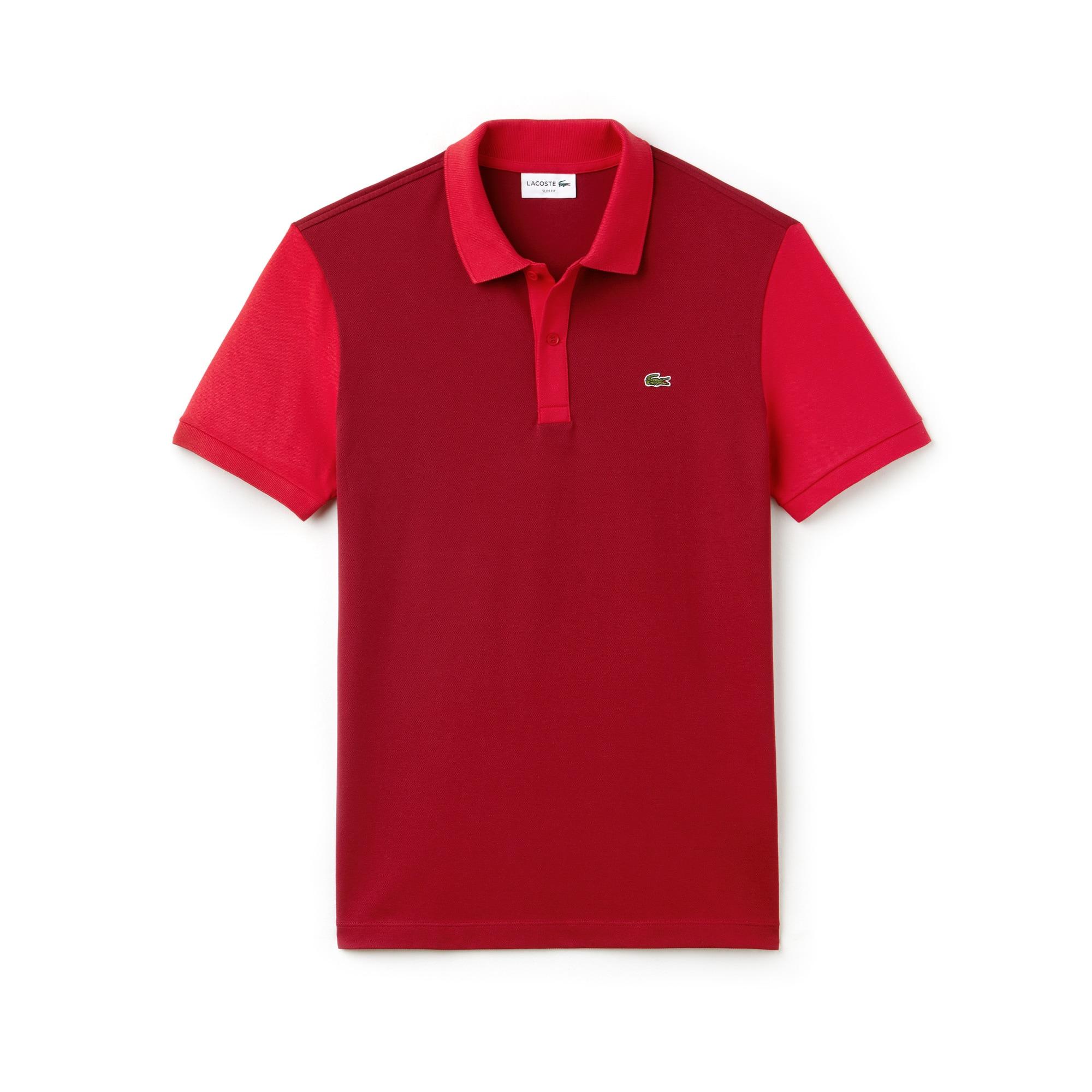 Men's Lacoste Slim Fit Colorblock Stretch Pima Piqué Polo Shirt