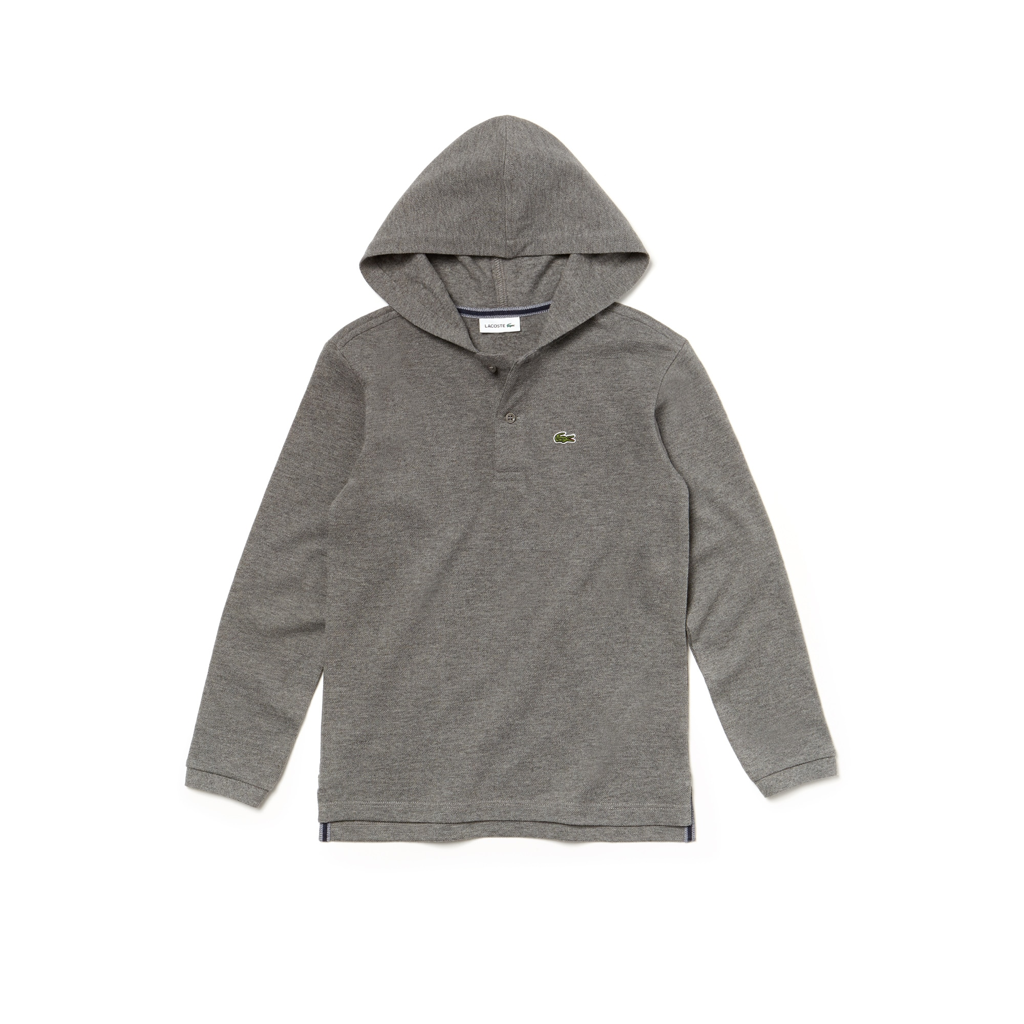 Boys' Lacoste Hooded Piqué Polo