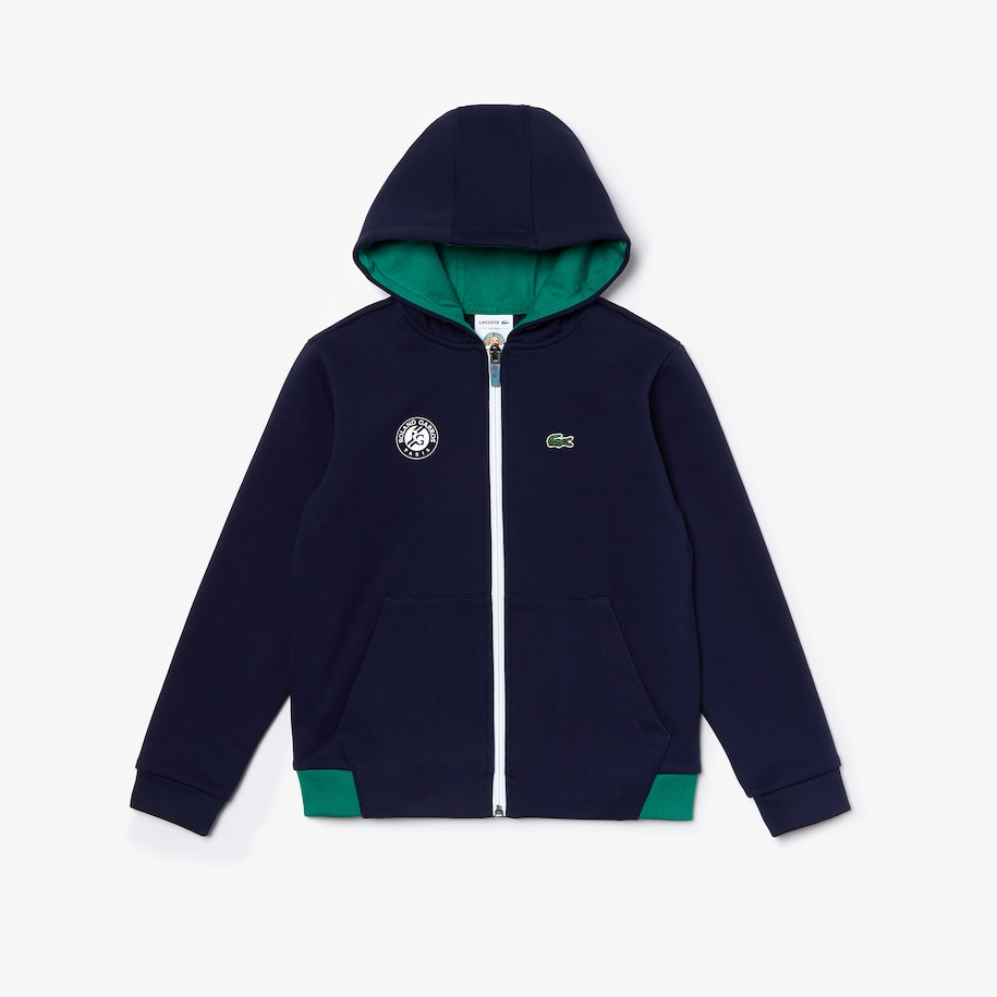 Boys' Lacoste SPORT Roland Garros Edition Hooded Jacket